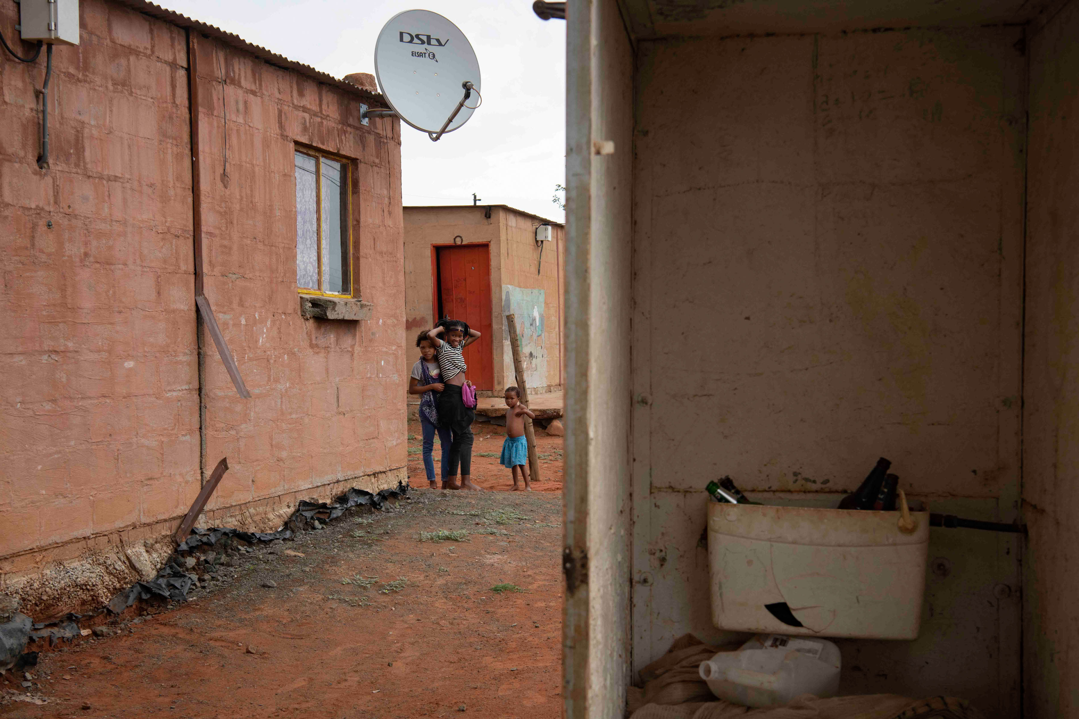 8 January 2020: Platfontein residents use 'bag toilets' as many of the facilities in the area are broken.