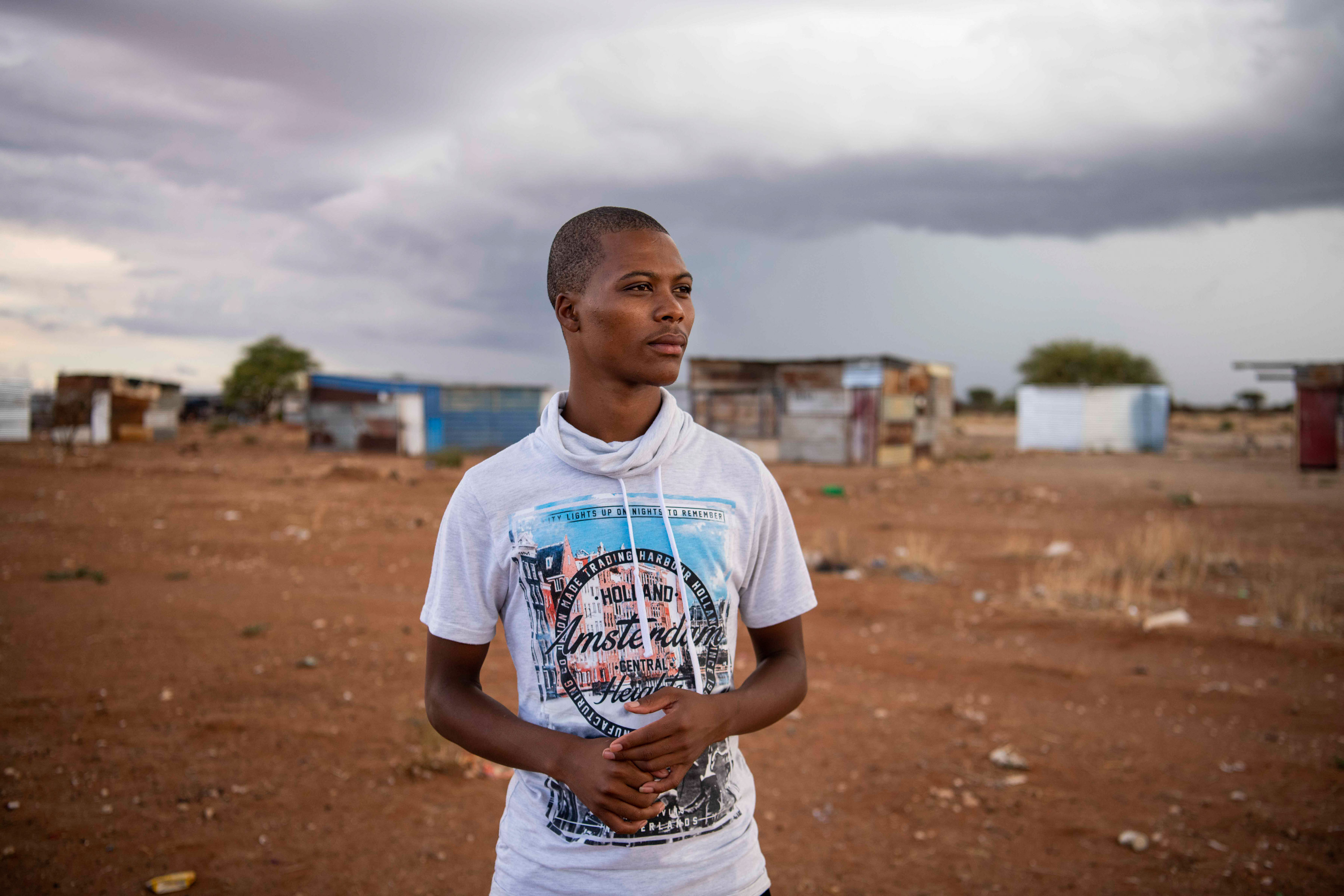 8 January 2020: Justin Moshweu hopes to find employment in the farming or mining sector to help take care of his unemployed mother, but job prospects in Douglas are slim.