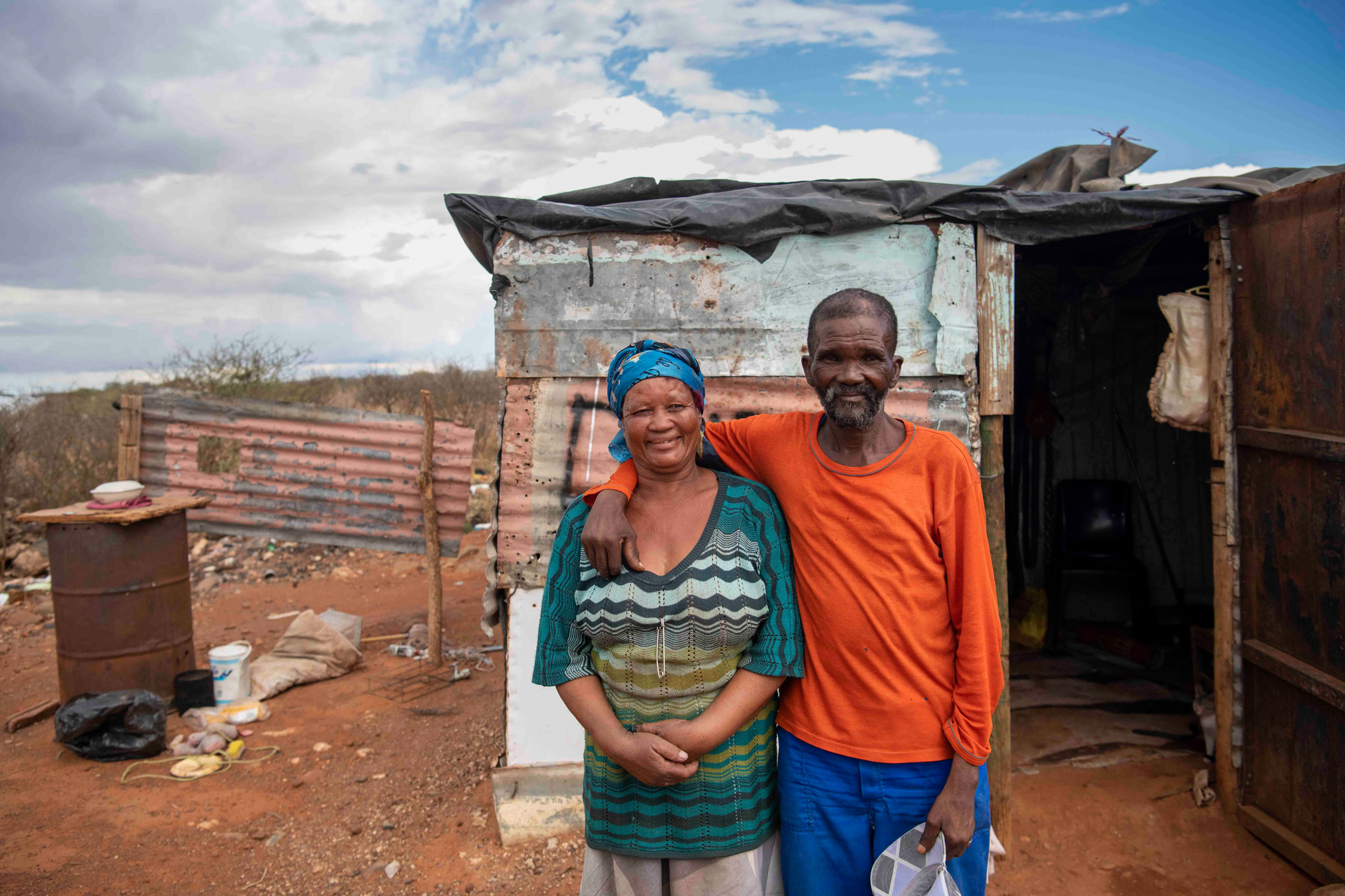 8 January 2020: Lena and Klaas Namaqua got married three weeks ago. They live in a shack next to a rubbish dump, in a settlement with no municipal services.