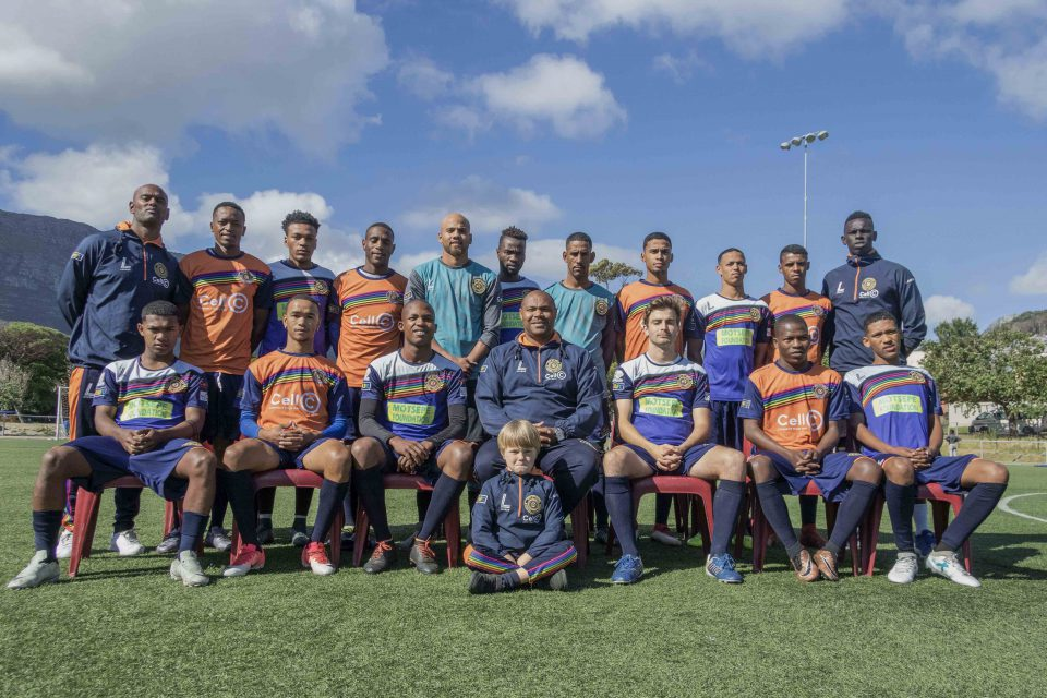 Undated: The Hout Bay United football club takes a holistic approach to its players, helping them find employment in the area and interacting with schools. (Photograph courtesy of Hout Bay United)