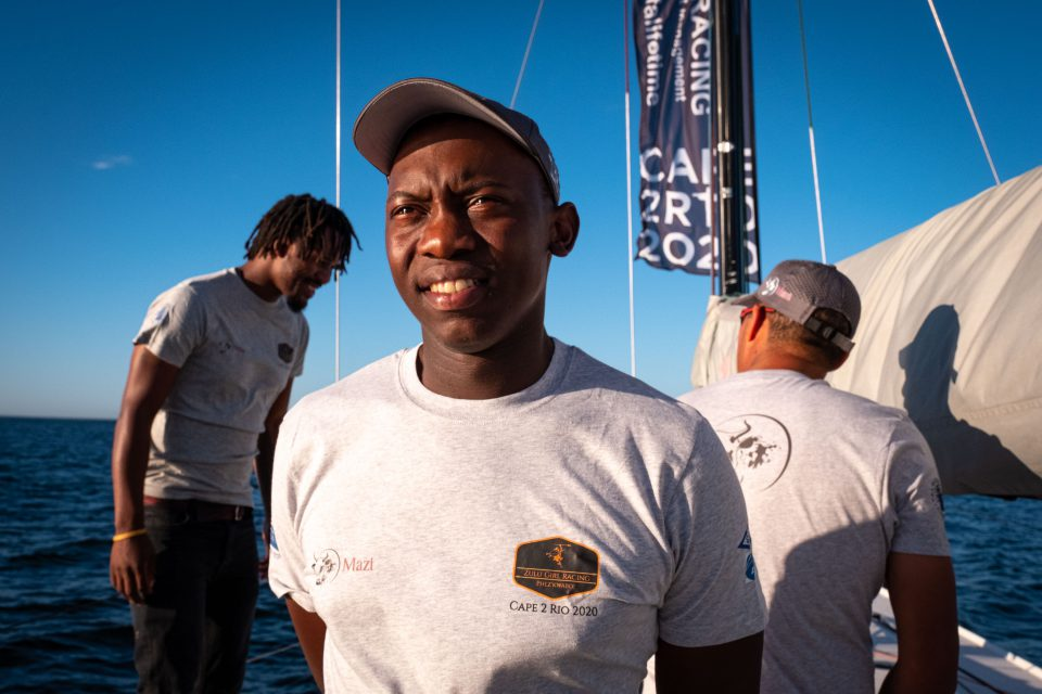 7 January 2020: Siya Vato, the skipper of Zulu Girl in this year's Cape2Rio Yacht Race, in Cape Town harbour. (Photograph by Barry Christianson)