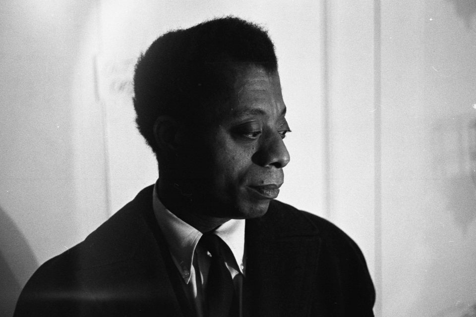 April 1964: Author and playwright James Baldwin backstage at the American National Theater and Academy Playhouse in New York to attend the opening of his play, Blues for Mr Charlie. (Photograph by Robert Elfstrom/Villon Films/Getty Images)
