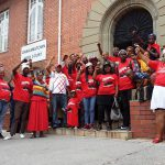 14 January 2020: Members of the Unemployed Peoples Movement celebrate the Makhanda High Court ruling that the Makana municipality must be dissolved.