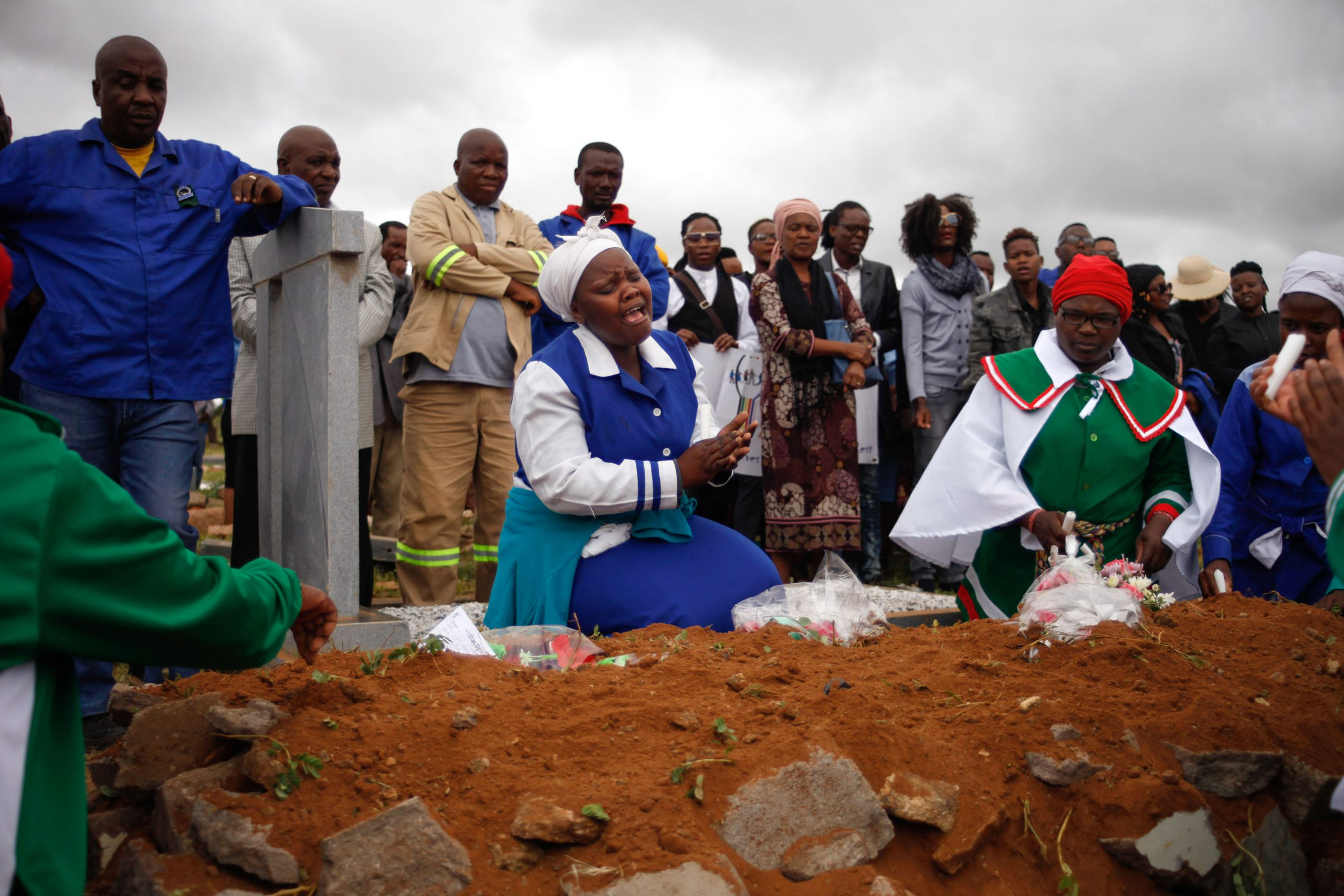 11 January 2020: Community members mourn Nare Mphela's violent death.