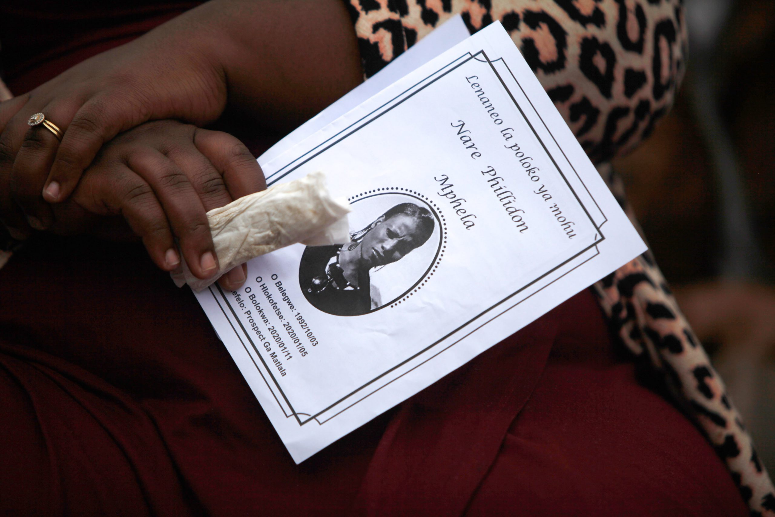 11 January 2020: Nare Mphela was a deeply religious woman, attending her local Apostolic church.