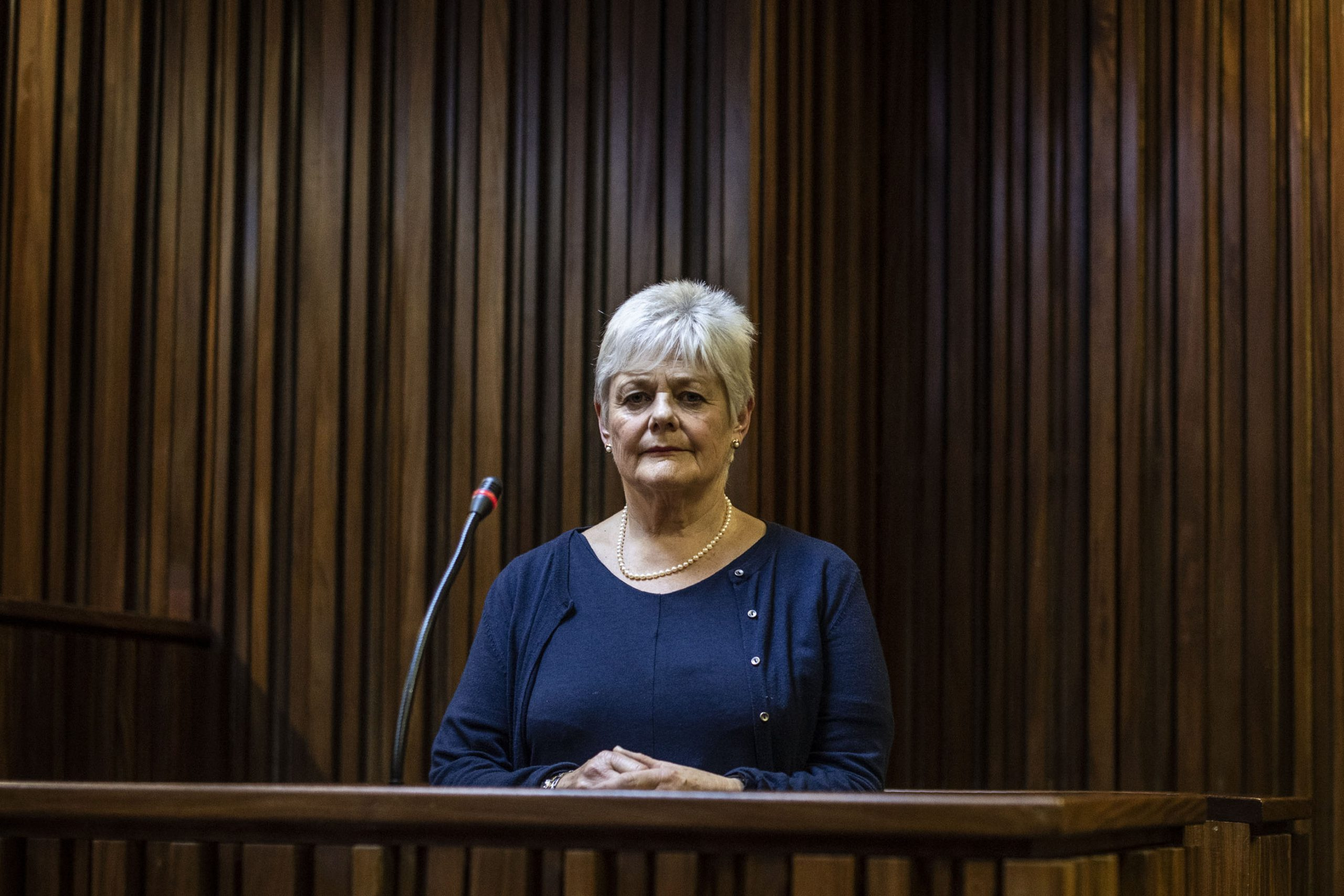 22 January 2020: Jill Burger testifying at the reopened inquest into the death of her brother, anti-apartheid activist Neil Aggett, at the South Gauteng High Court.