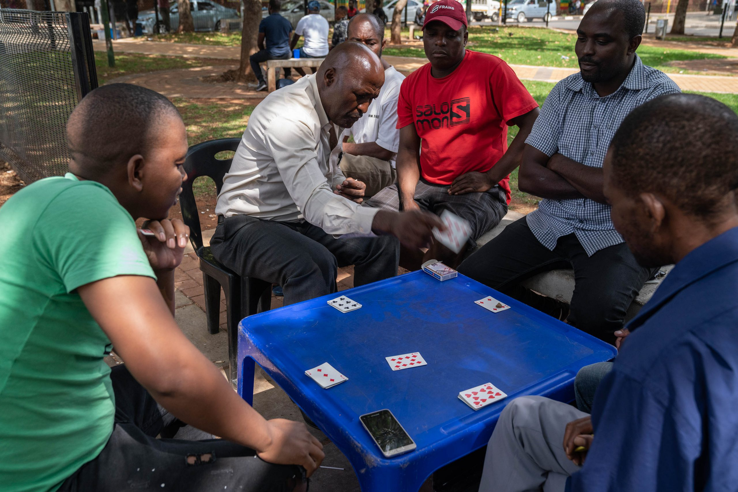 15 January 2020: Fans of the card game Casino pit their wits against each other at Barnato Park.