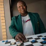 29 January 2020: World draughts champion Lubabalo Kondlo at Bra Vez's place in KwaZakhele near Port Elizabeth, a popular hangout for draughts players in the area.