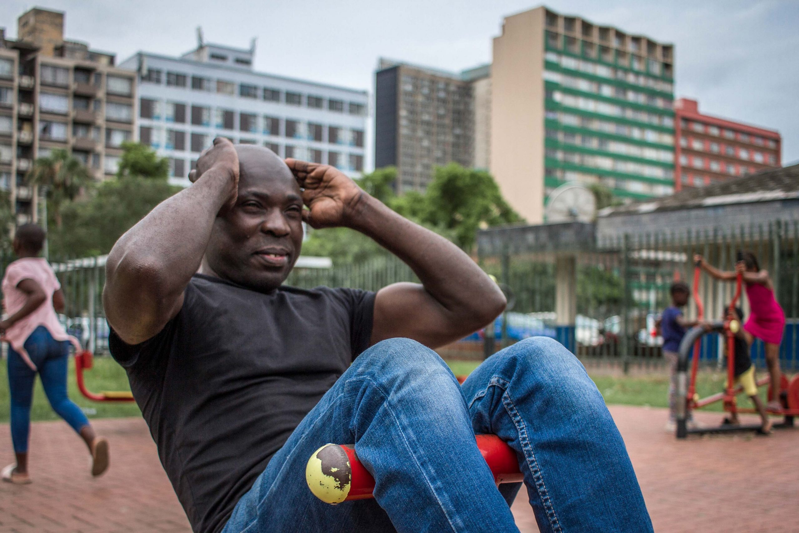5 December 2019: Peter Mlwelwa has been using the outdoor gym in central Durban for years to maintain his fitness levels.