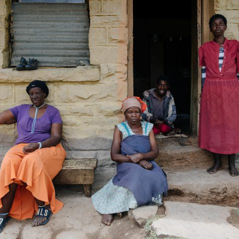11 December 2019: From left: Nonthembiso Mzimasi, Nonthukunina Bino, Sibongile Bino and Zoleka Bino on their farm near Kowa in Chris Hani District, Eastern Cape.