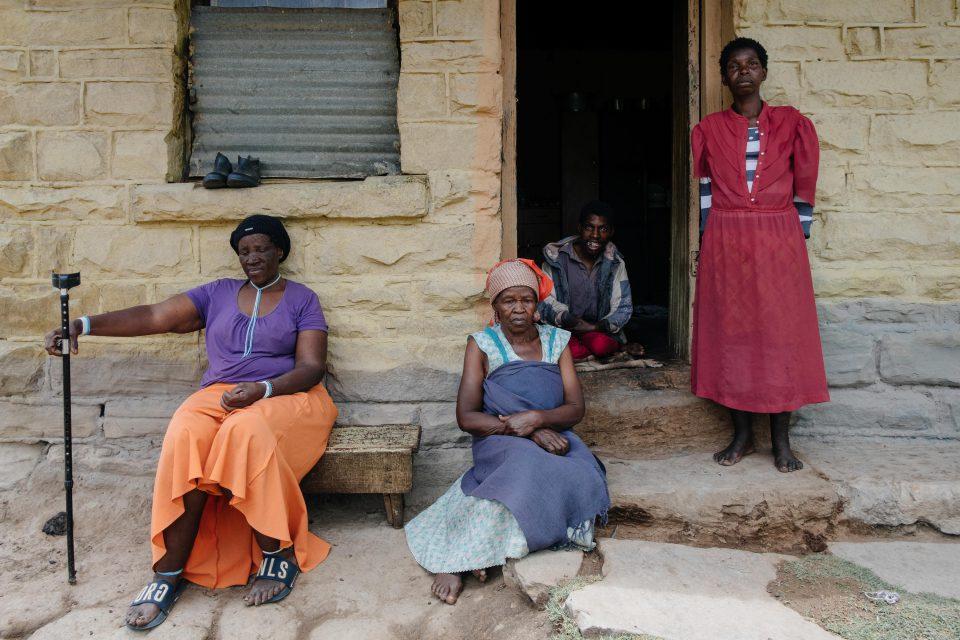11 December 2019: From left: Nonthembiso Mzimasi, Nonthukunina Bino, Sibongile Bino and Zoleka Bino on their farm near Kowa in Chris Hani District, Eastern Cape.