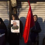 6 January 2020: Mourners attend a funeral ceremony in Tehran, Iran, for Iranian Major General Qassem Soleimani and others who were killed by a US drone strike in Baghdad, Iraq. (Photograph by Majid Saeedi/Getty Images)