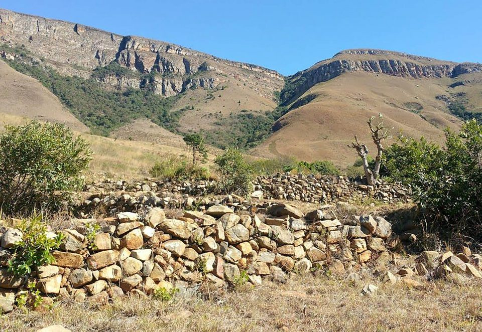 Undated: Bokoni terracing on Verlorenkloof farm on the Mpumalanga escarpment.