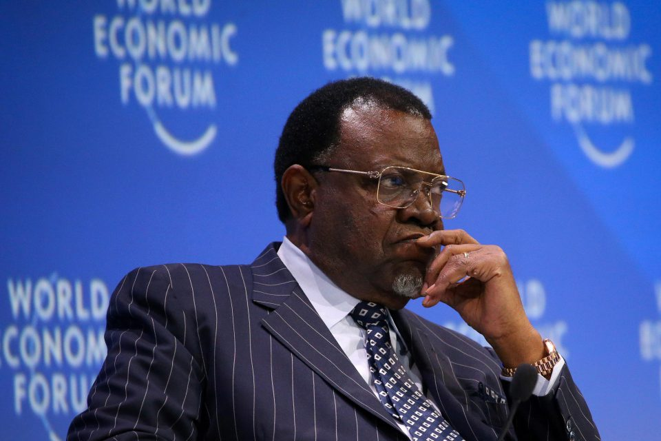 5 September 2019: Namibian President Hage Geingob at the World Economic Forum on Africa in Cape Town. His ruling Swapo party won the national elections in late 2019 despite a sharp drop in support.
