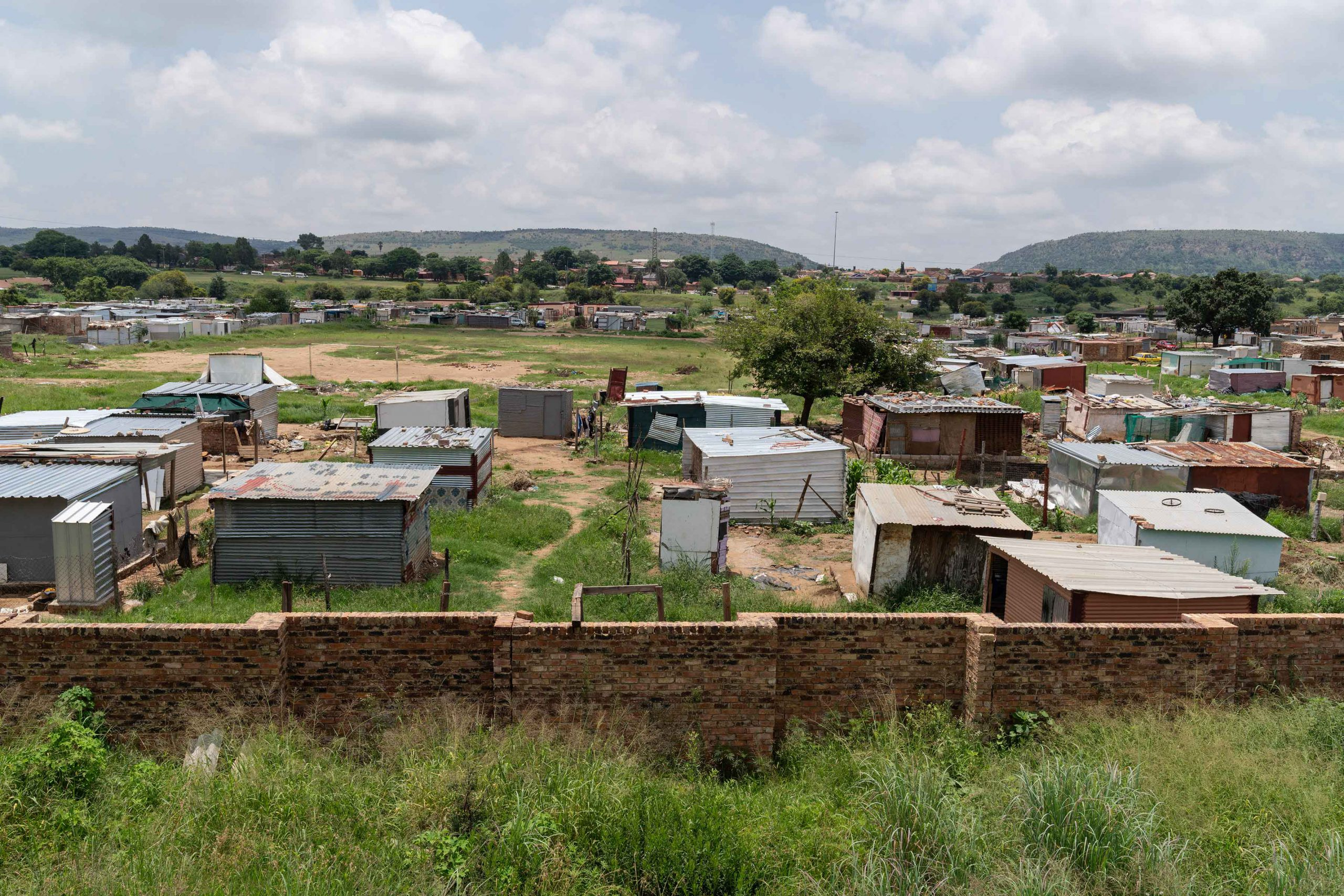 21 January 2020: A panorama of the Seven Seven shack settlement several weeks after the devastating floods there in December 2019.