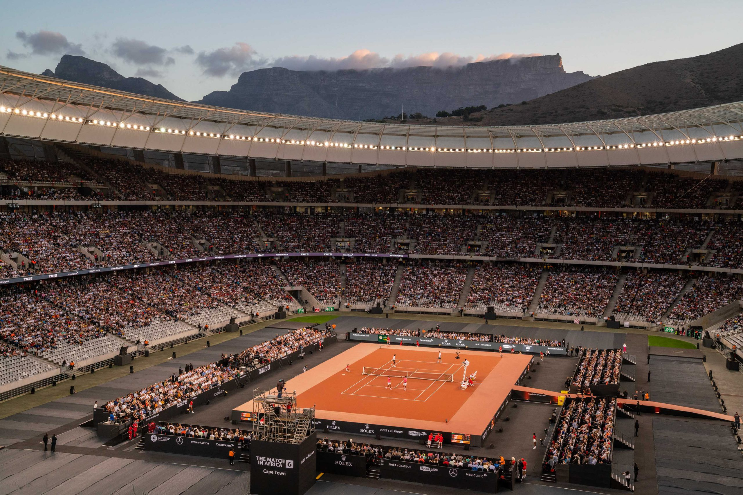 7 February 2020: The 50 000 audience members broke the record for the highest number of spectators at a tennis match.