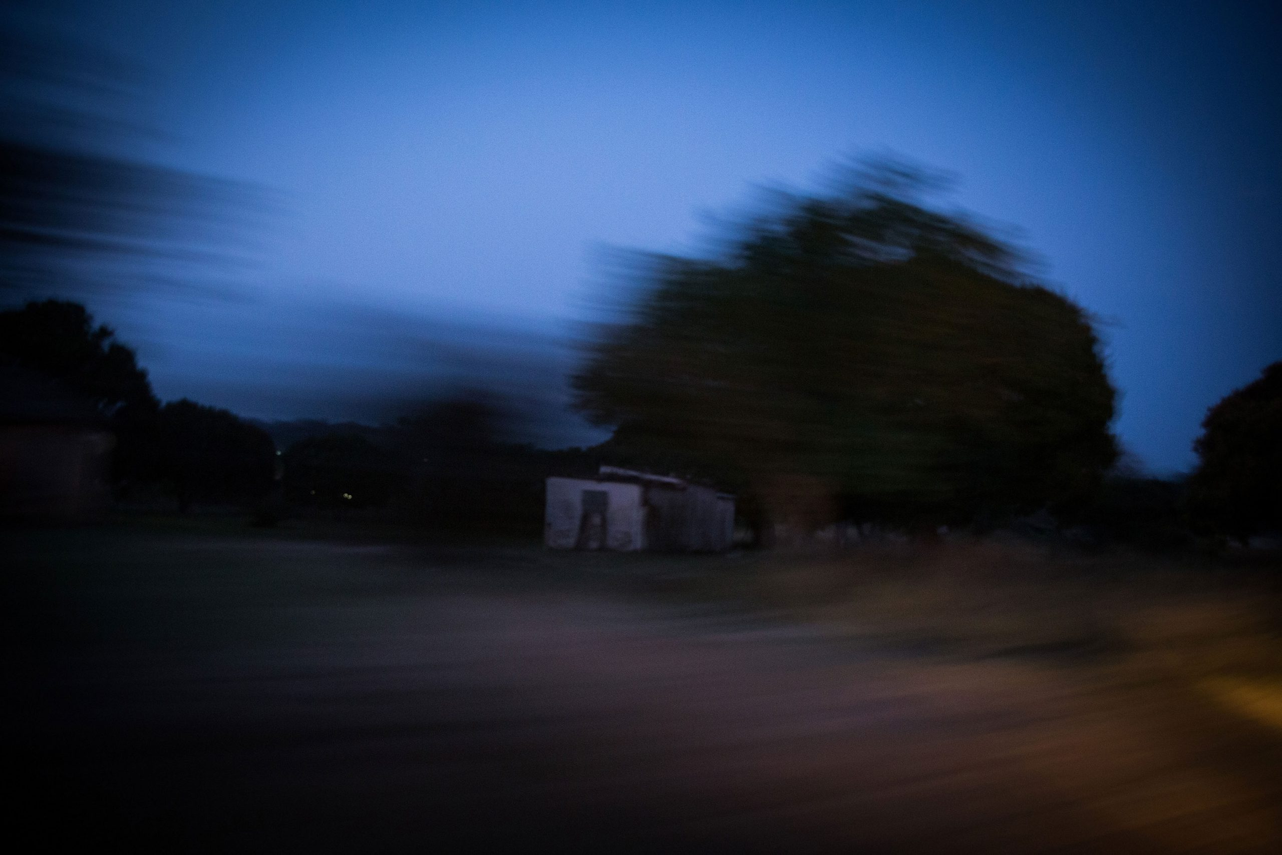 26 November 2018: Dusk descends on an abandoned property near Clare Stewart's former homestead. Stewart was an active ANC member, which drew scrutiny in an area ravaged by conflict between the ANC and the IFP.