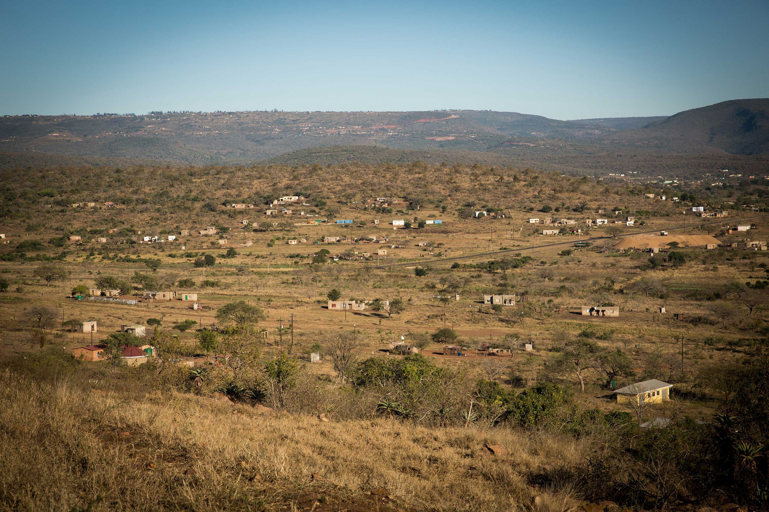 27 November 2018: The road from Manguzi to Ingwavuma cuts into a hillside and offers expansive views of the sandveld below. Three young herders who lived in the area found Clare Stewart's body on 24 November 1993.