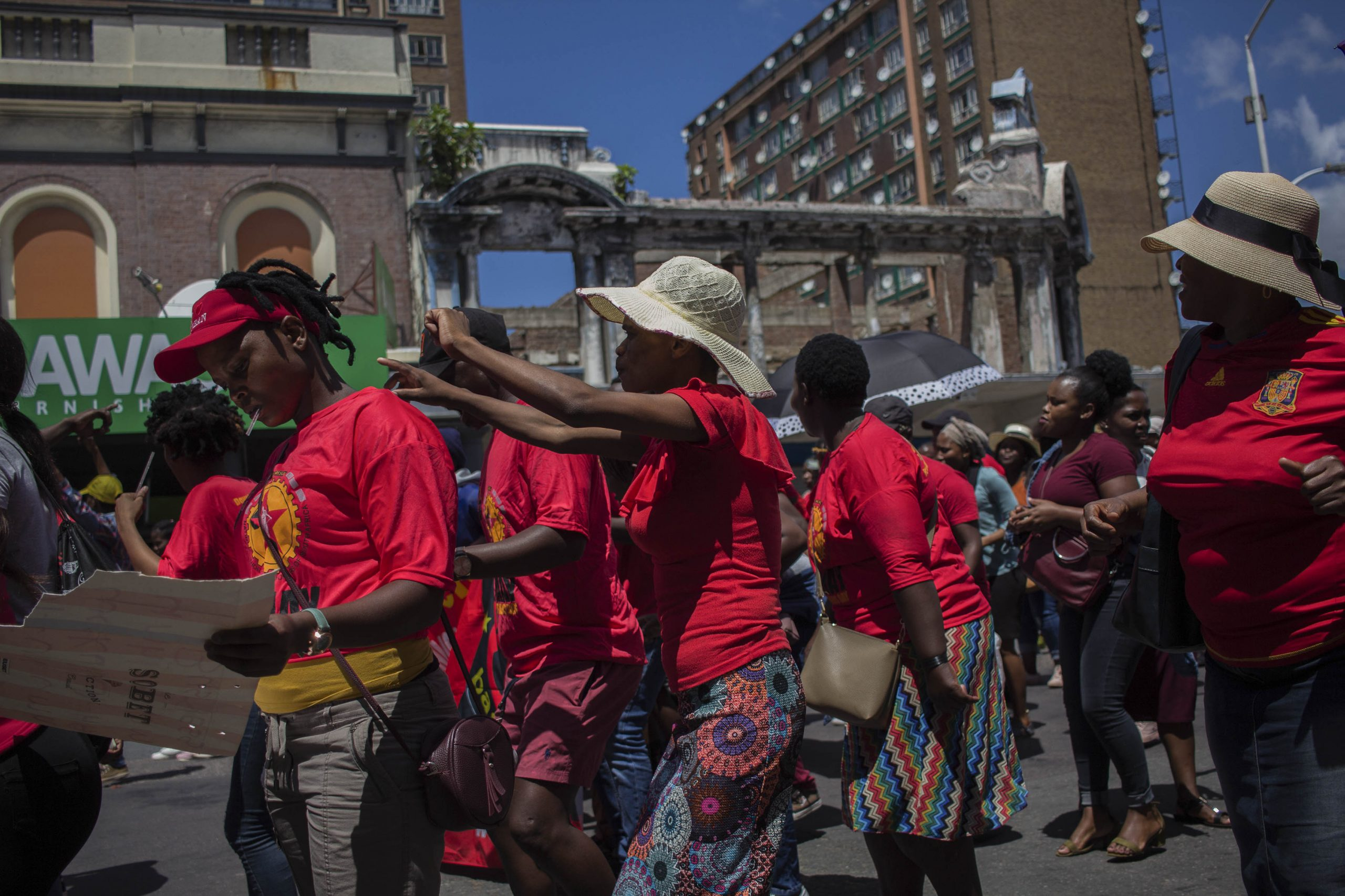 24 February 2020: Members and supporters of Abahlali baseMjondolo took part in a march to submit proposals for the amendment of section 25 of the Constitution to allow for land expropriation without compensation.