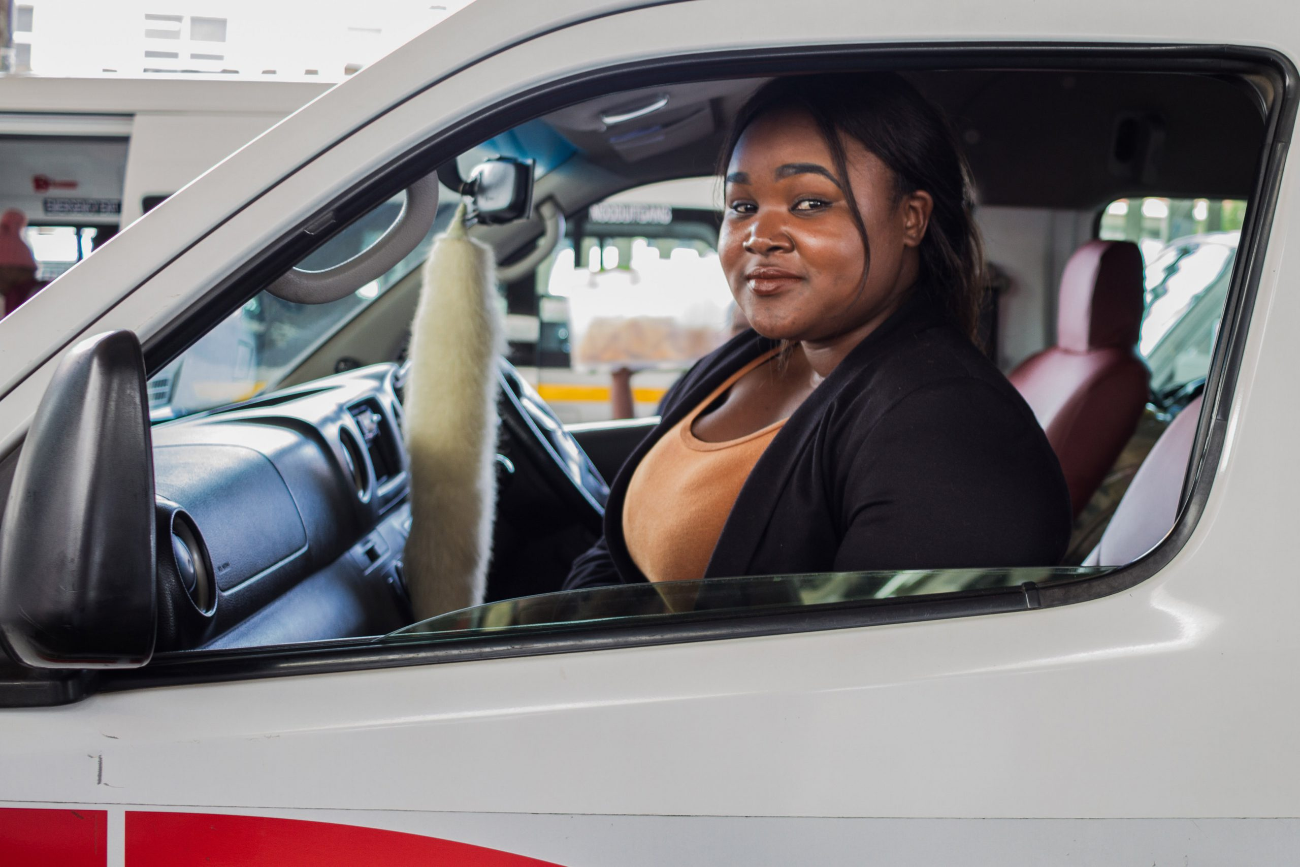 18 November 2019 : Ayanda Radebe, a student from eMolweni, south of Durban, relies on taxis for her daily commute.