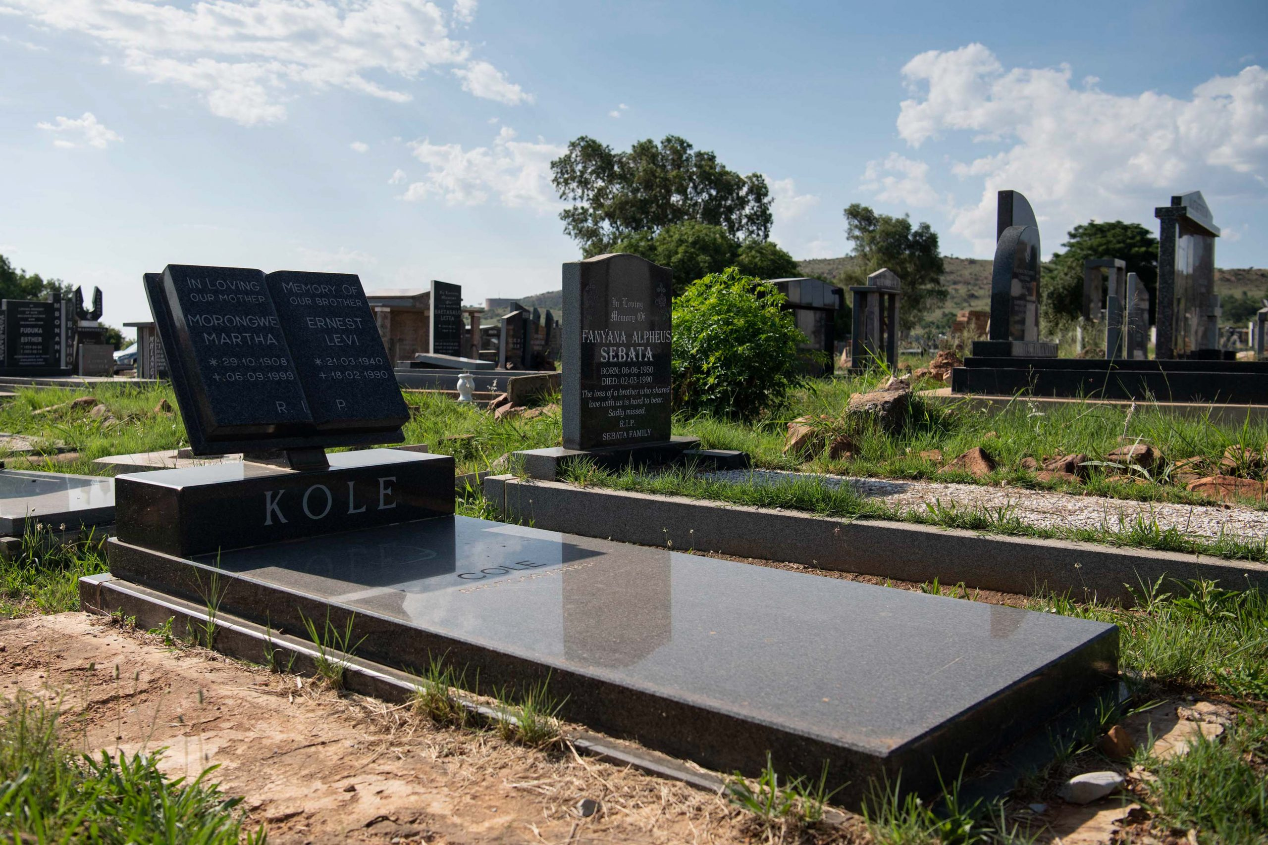 3 December 2019: Ernest Cole's grave in the Mamelodi cemetery.