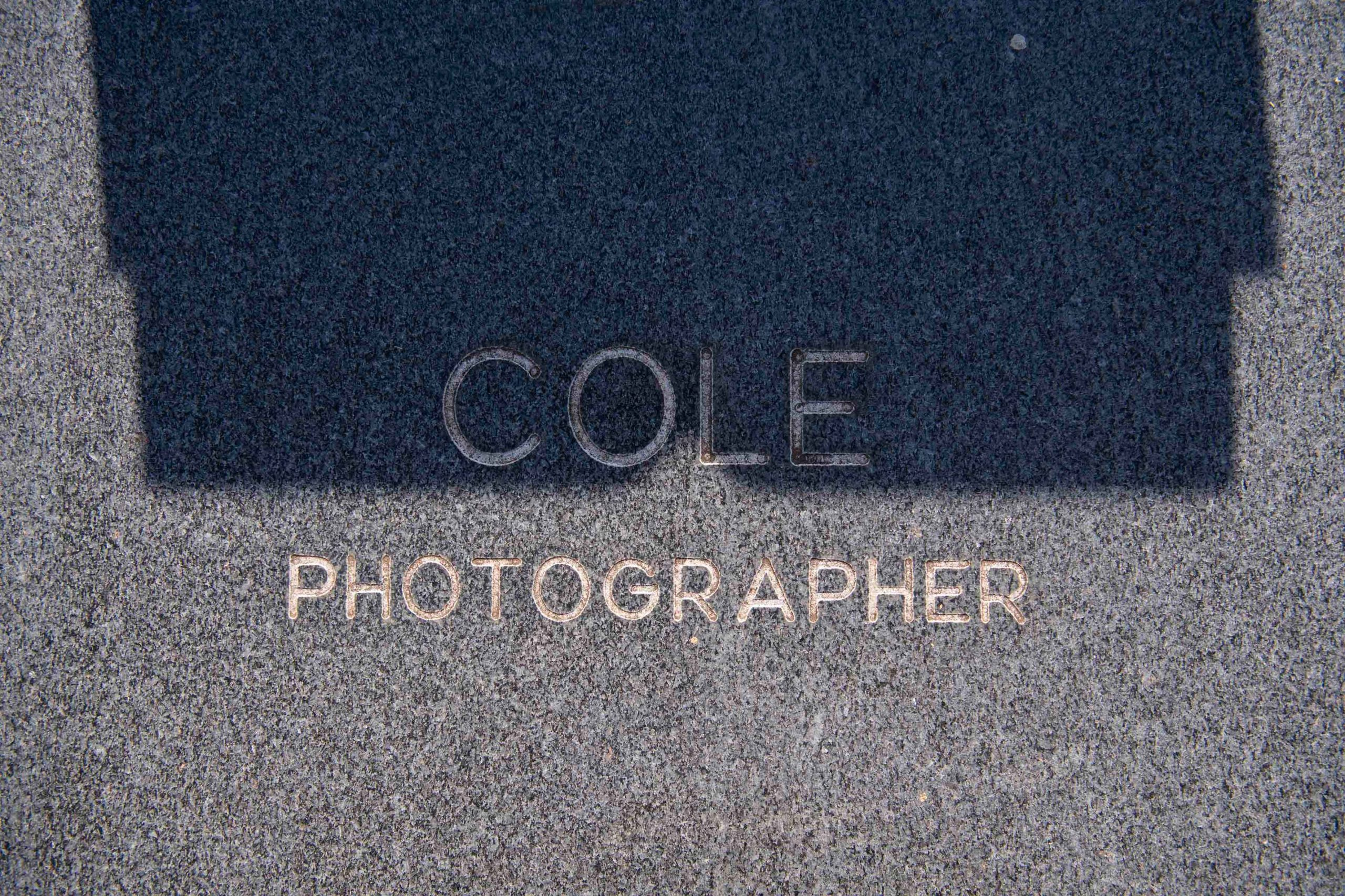 3 December 2019: The stark inscription on the slab of Ernest Cole's grave.