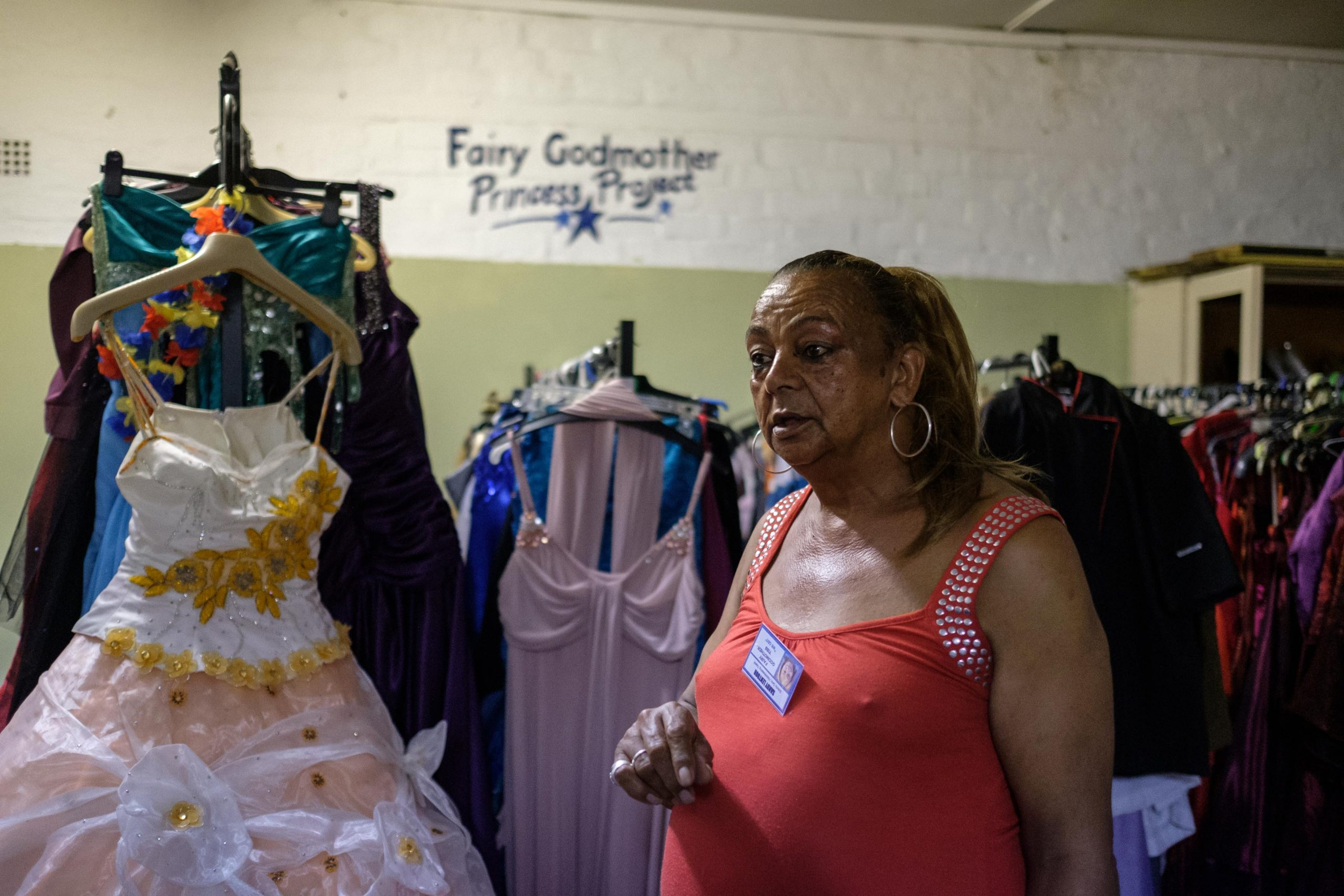 14 February 2020: Sandra Dee runs a project called Fairy Godmother, hosting events for the elderly and hiring out dresses and shoes for matric dances through the Princess Project.