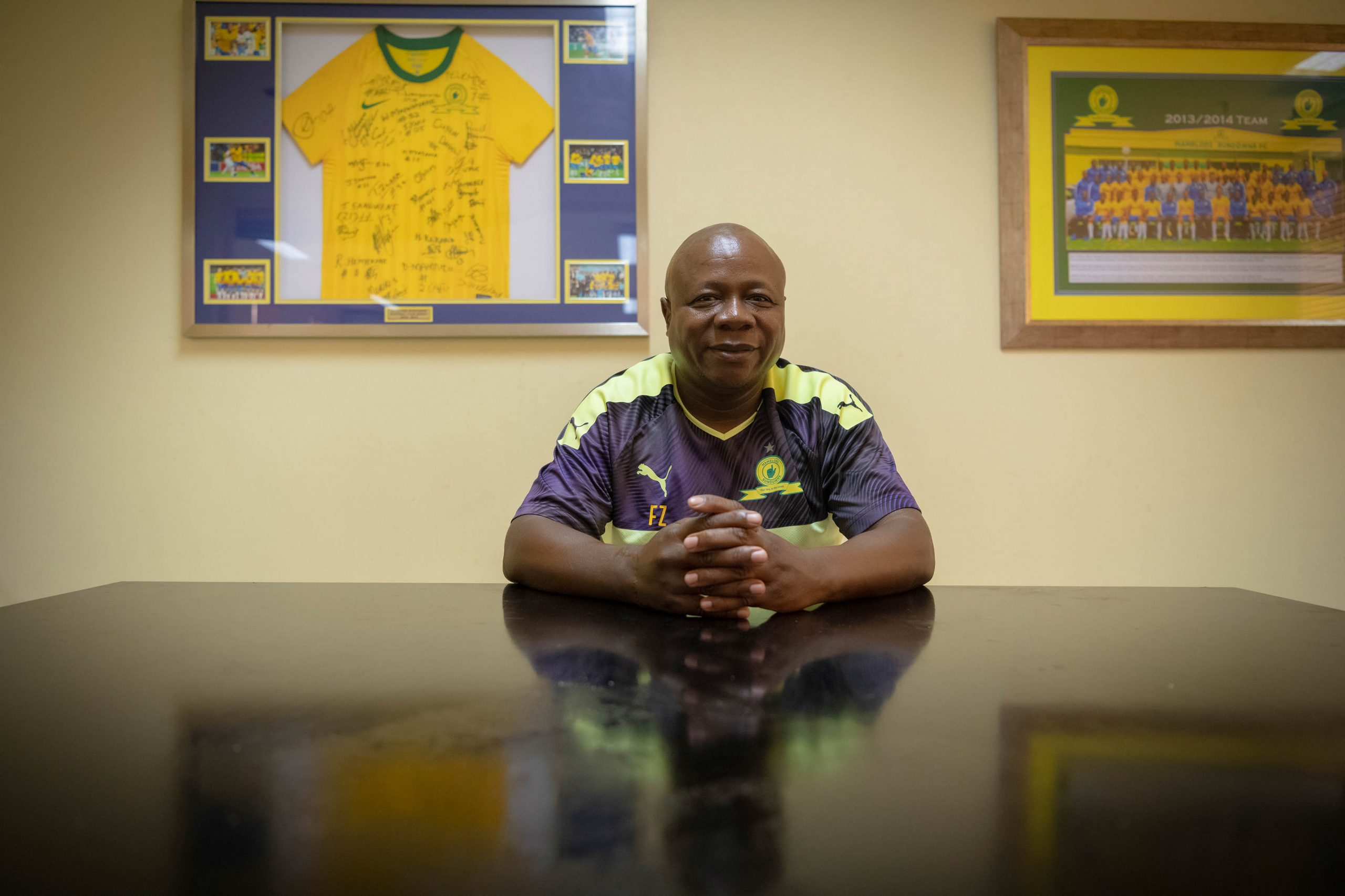 20 February 2020: Freddy Zungu started at Sundowns as a volunteer in 1990 and became a permanent staff member at the football club the following year.