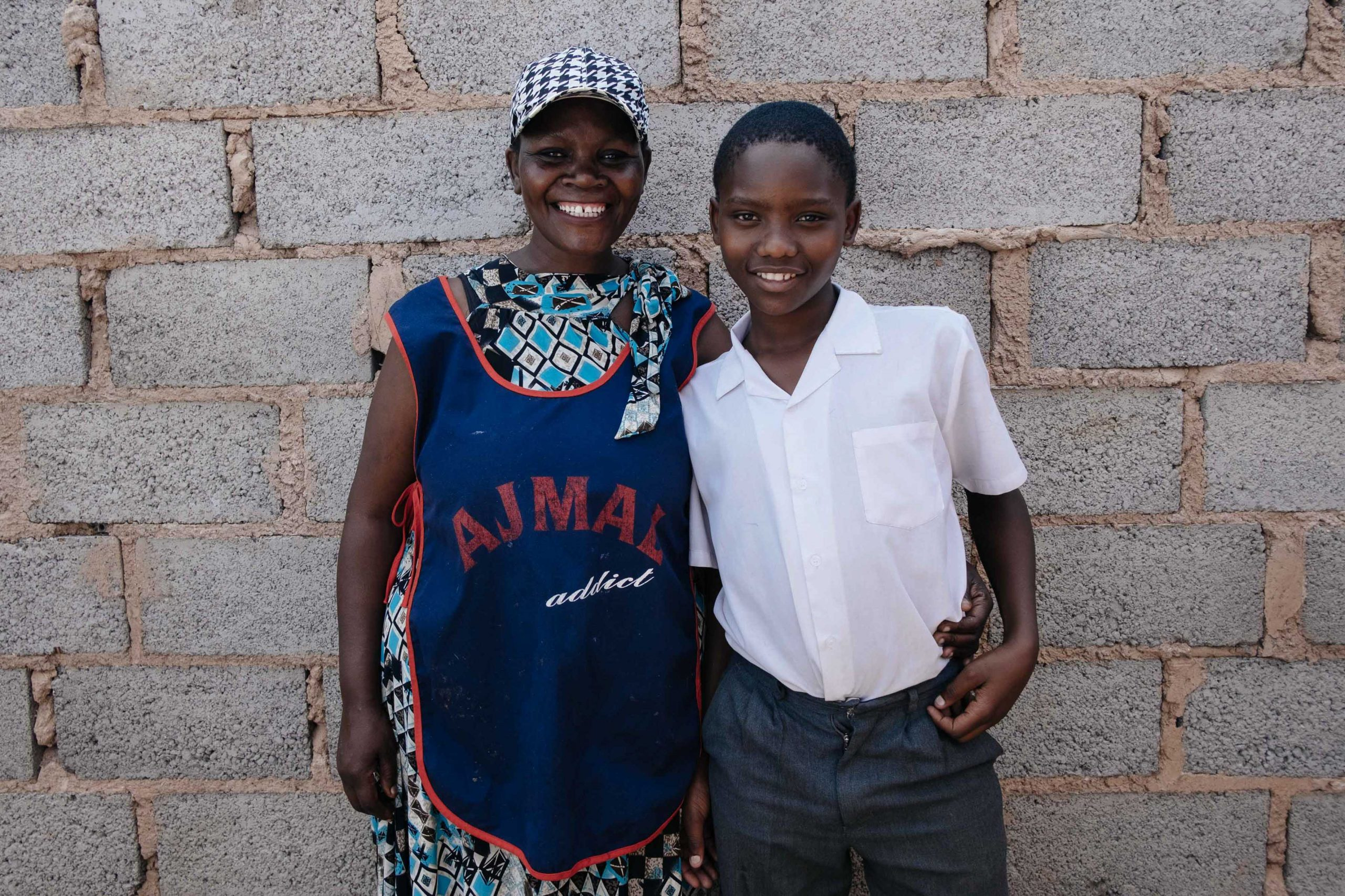 26 February 2020: Kedibone Mutauhatshindi, 45, with her son, Kwazi Ngwenya, 13, at the centre in Meadowlands, Soweto.