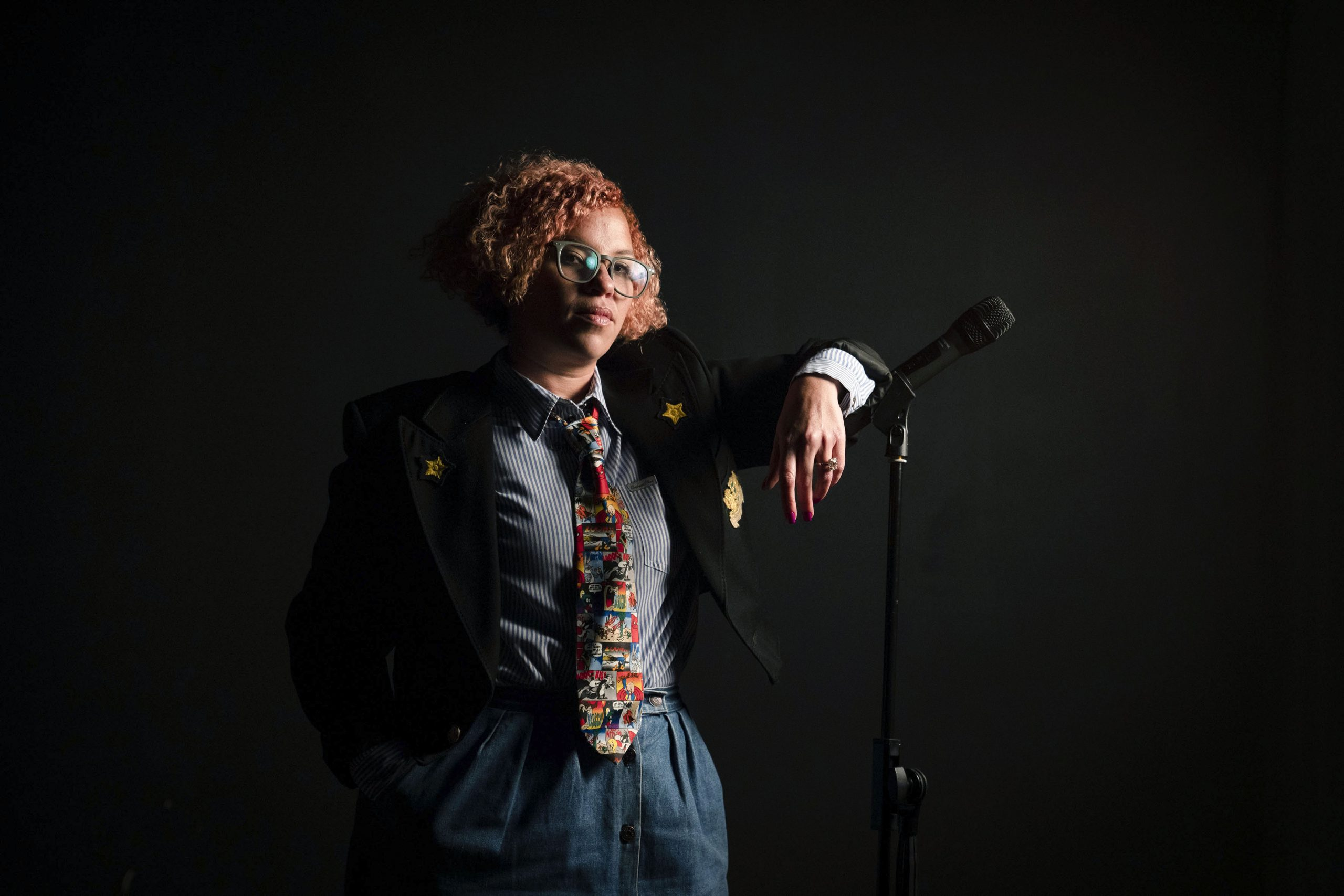 25 June 2019: Managing director Kate Goliath at The Goliath Comedy Club in Melville, Johannesburg, which has been shut since before the ban on social gatherings. (Photograph by Madelene Cronjé)