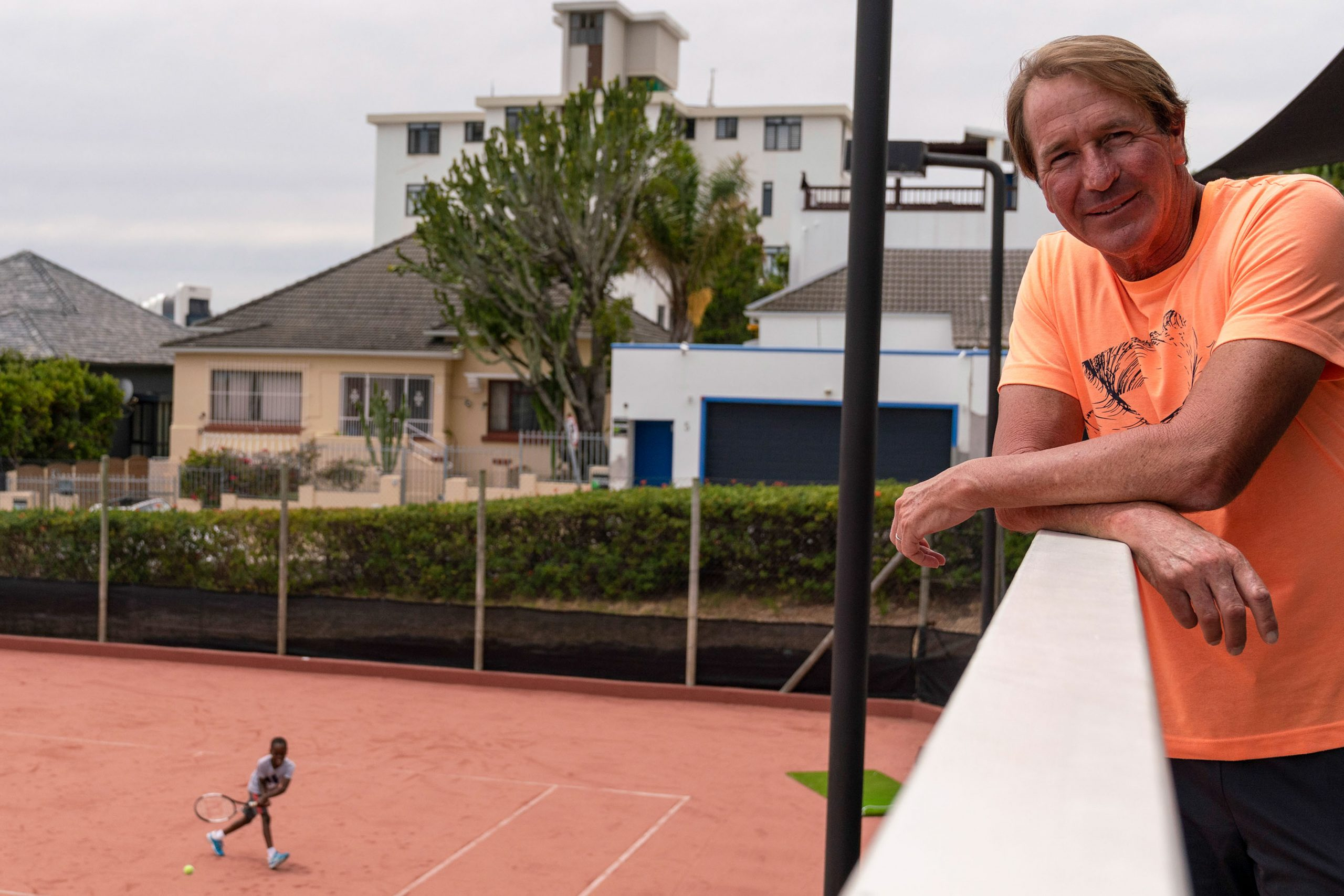7 February 2020: Anthony Harris started the academy in 2012 with his wife, Dionne Harris, with the ultimate aim of producing a tennis champion from Africa. (Photograph by Ihsaan Haffejee)