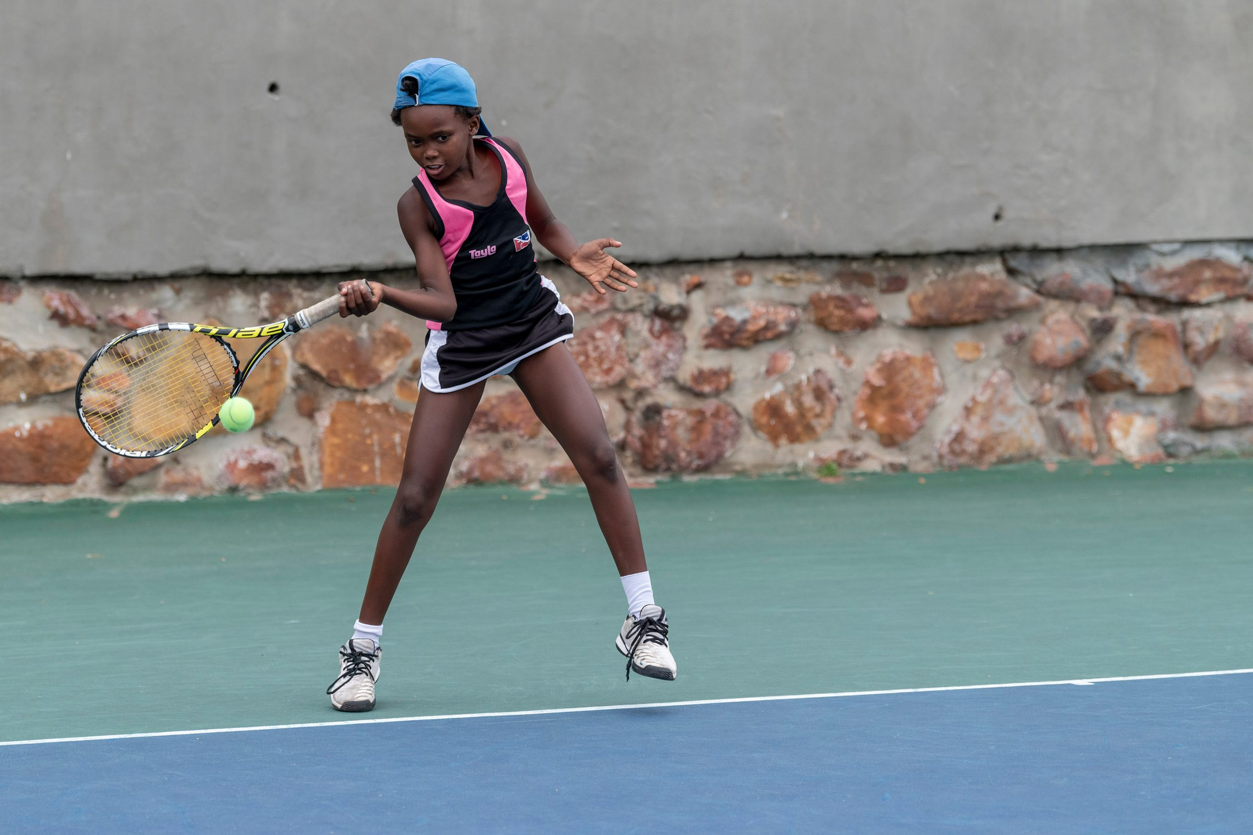 7 February 2020: Nine-year-old Siyolise Schultz is the academy's youngest girl player. (Photograph by Ihsaan Haffejee)