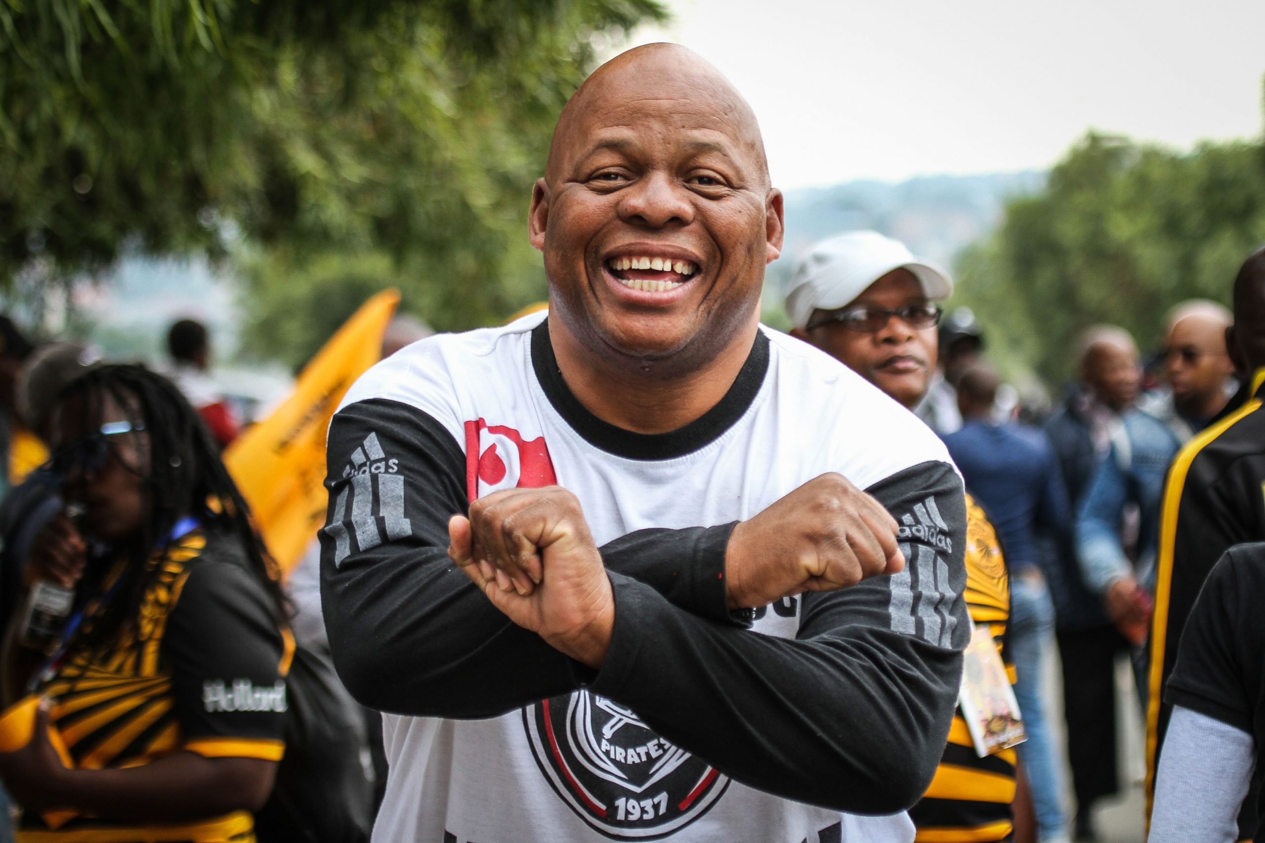 29 February 2020: Orlando Pirates fan Vusi Duba spoke about the Soweto Derby's historical significance. (Photograph by Lebo Edgar)