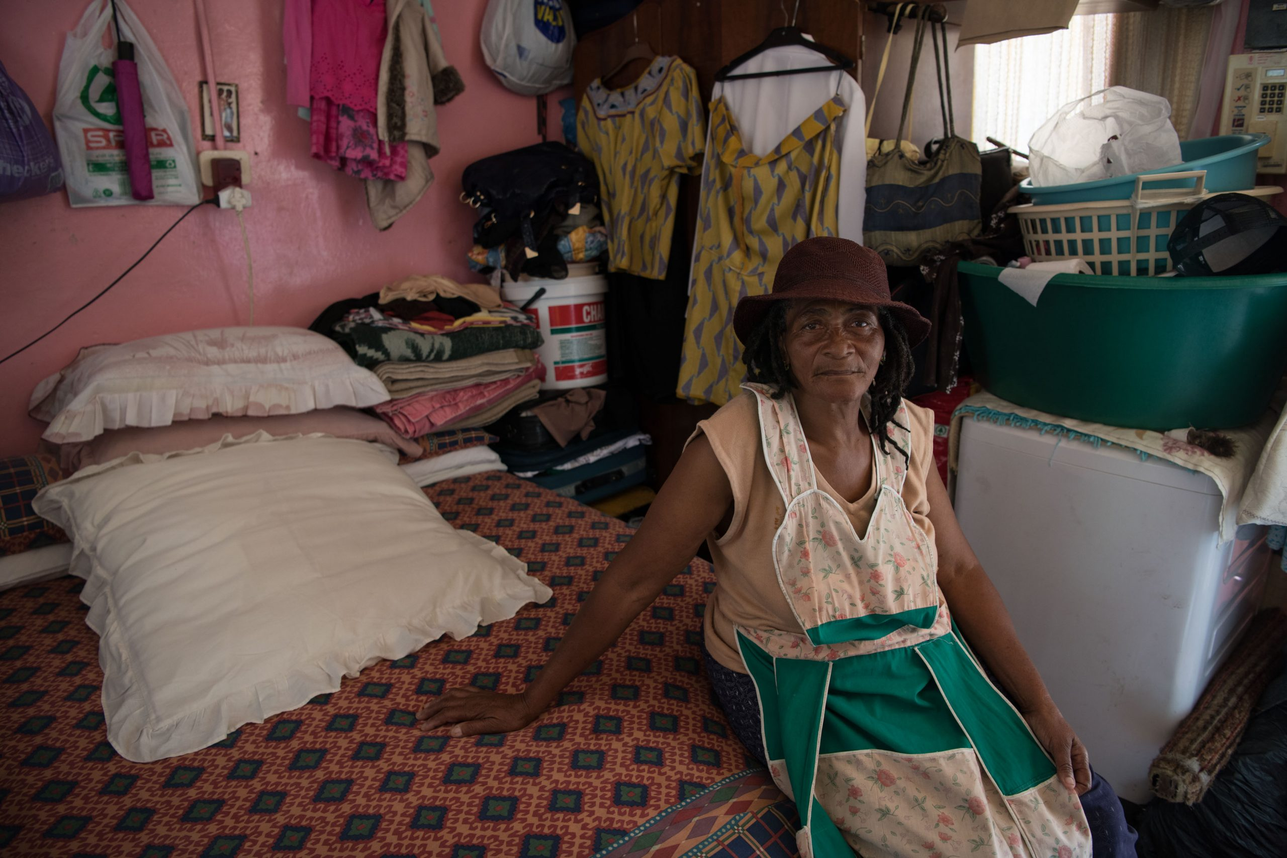 3 February 2020: Vuyiswa Pikoli has been living at Adcock Homes since 1984. She shares her room with her three grandchildren.