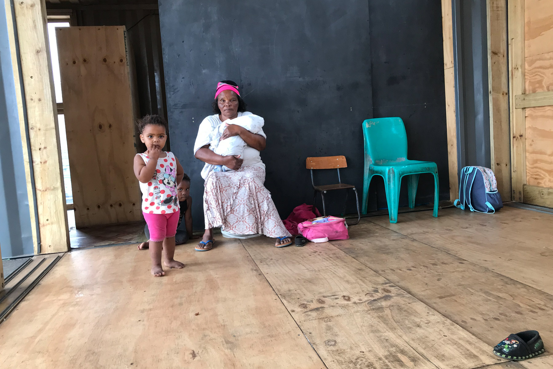 24 March 2020: Thobeka Mbada, an Airport Valley resident and teacher at the newly built creche, is not getting paid during lockdown because the facility is closed