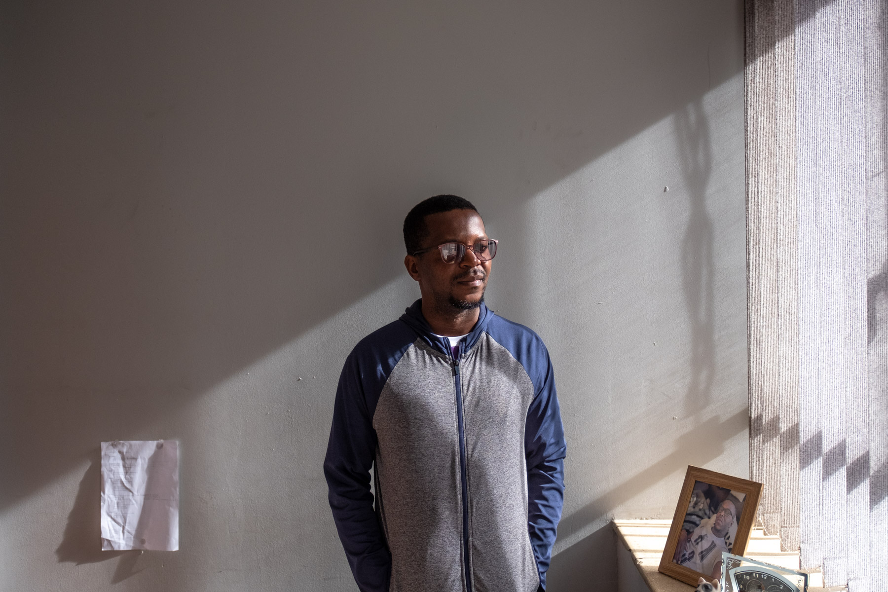 23 April 2020: Passop project coordinator Victor Chikalogwe in his office on the Foreshore in Cape Town.