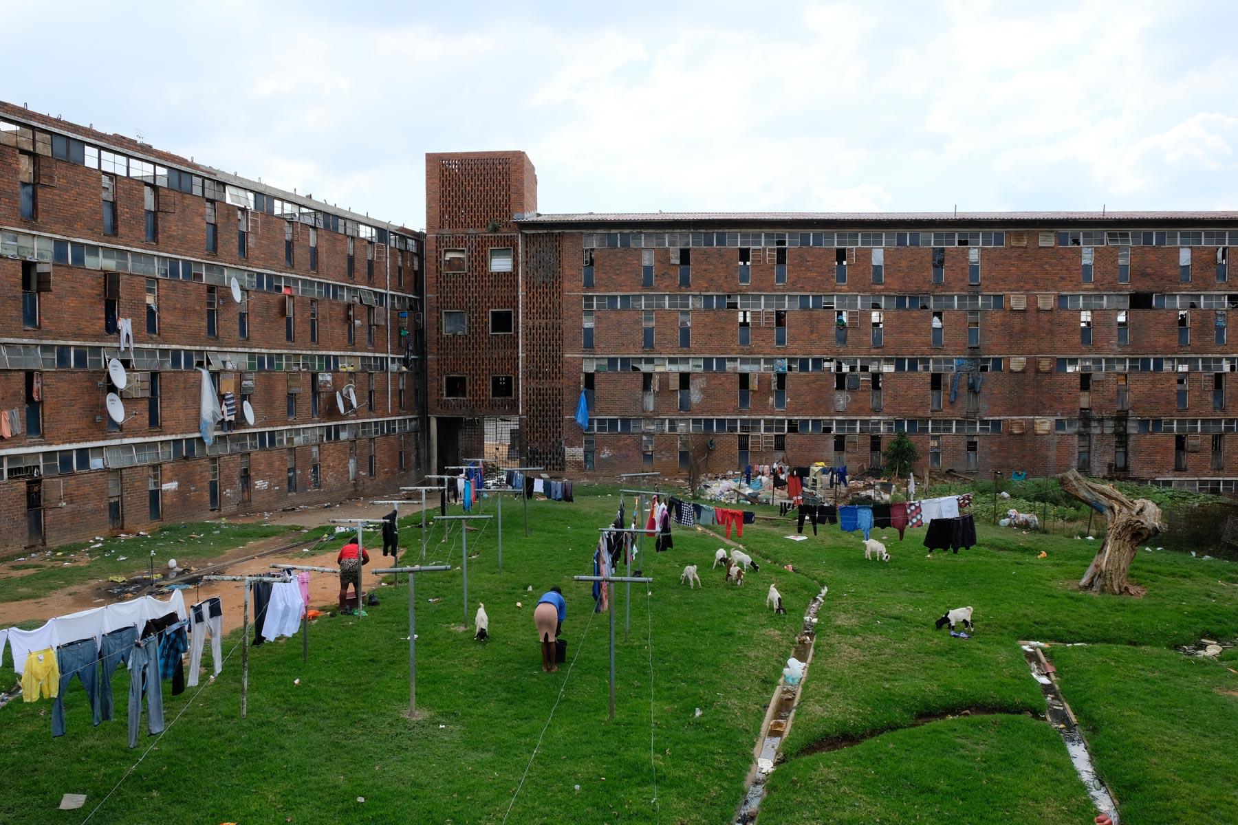 1 April 2020: The Madala men's hostel in Alex.