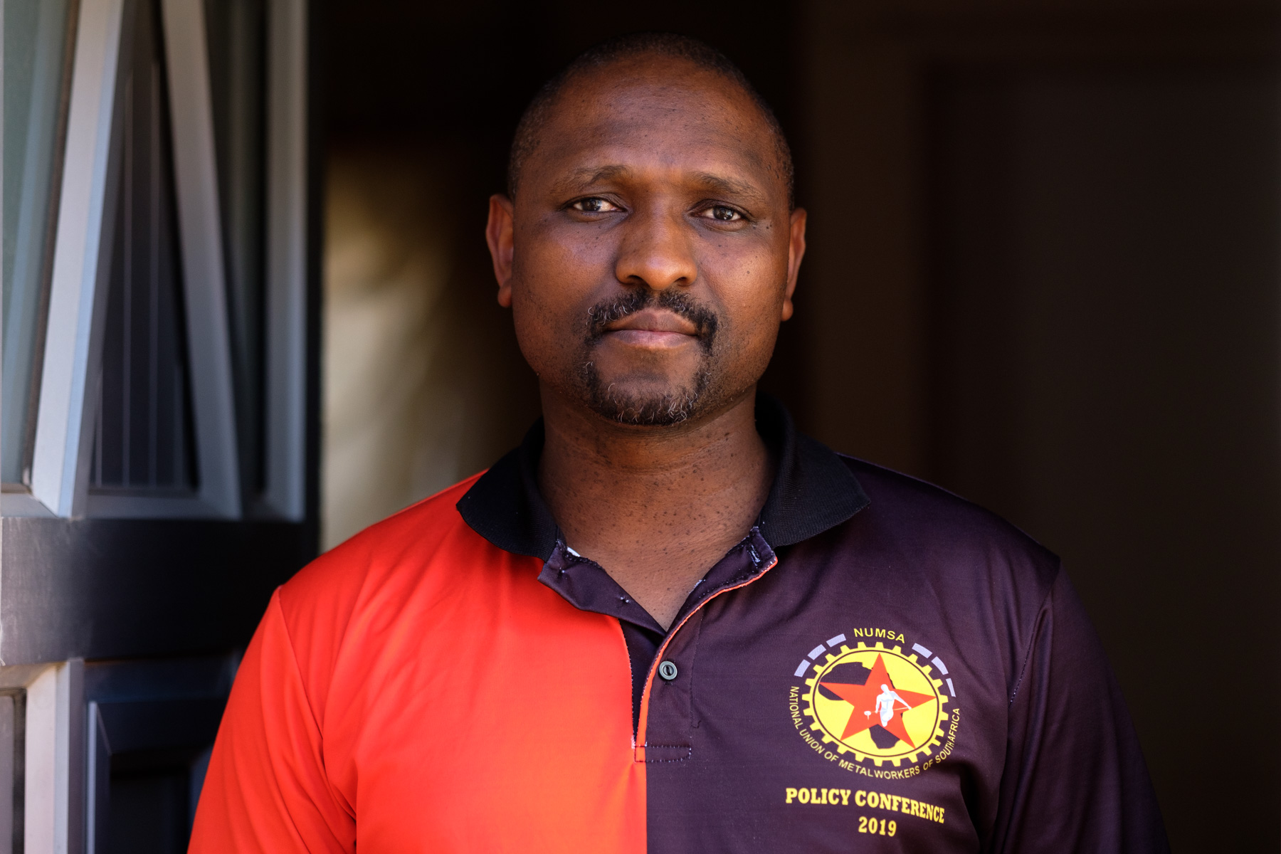 2 April 2020: Vuyo Lefele, regional secretary of the National Union of Metalworkers of South Africa, at his home in Philippi.