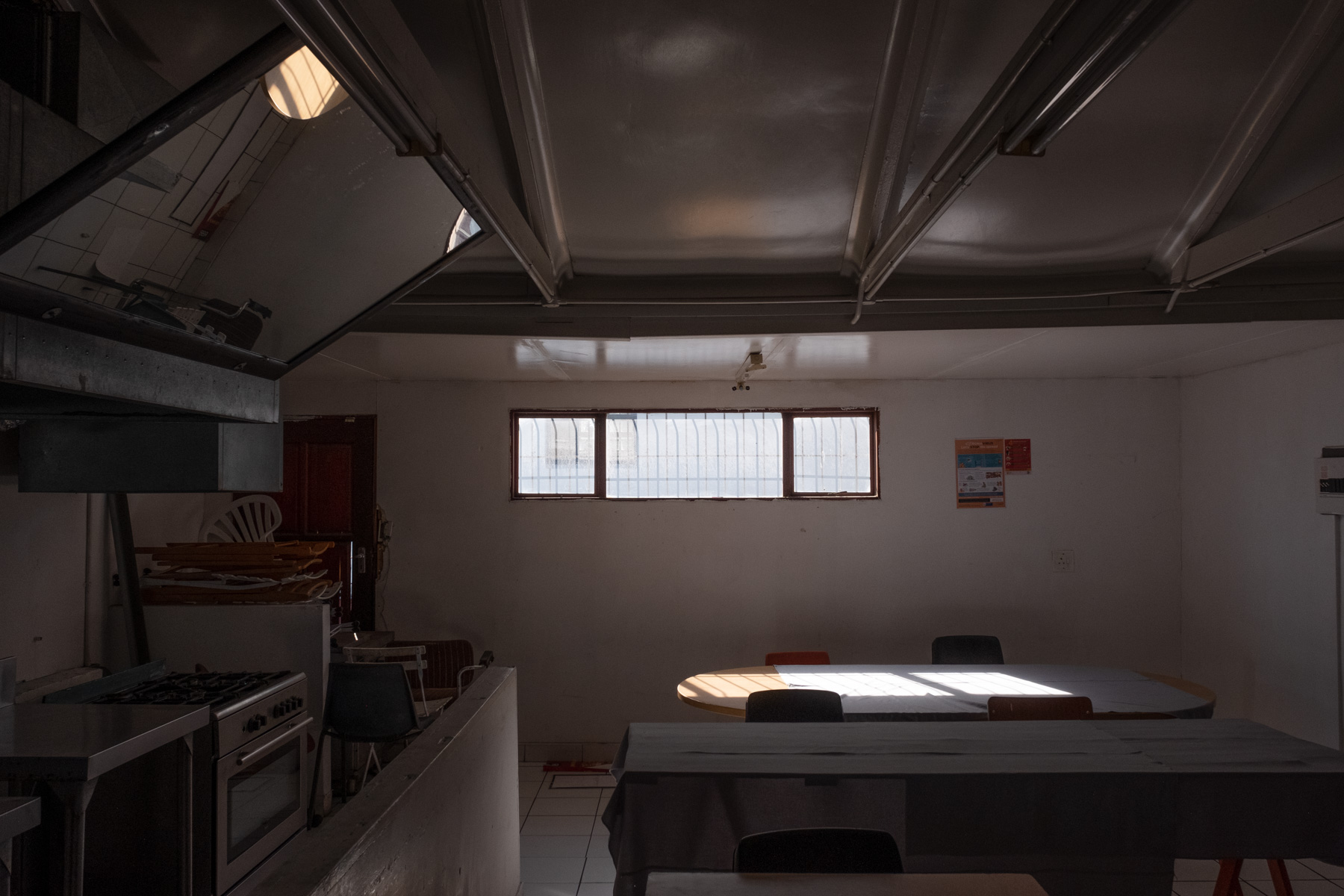 20 May 2020: Eziko students are taught in a spacious room with tables and chairs for theory and a kitchen for practicals.