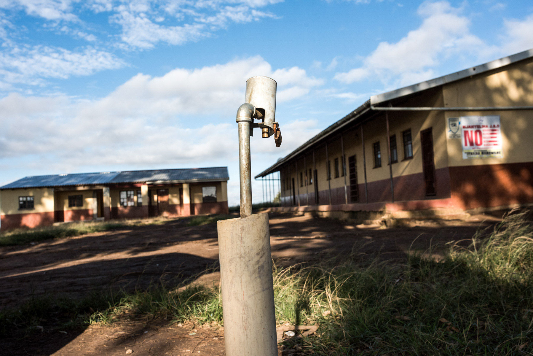 12 April 2018: A single tap is the only source of water for Mjanyelwa Junior Secondary School in the Eastern Cape.