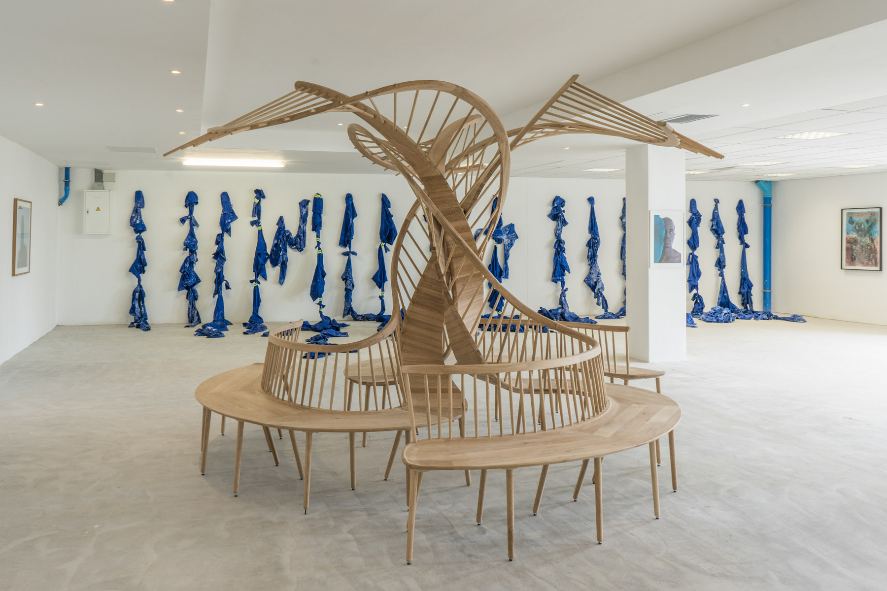 Undated: Houtlander's fibrous, tree-like Preservation bench, forms part of BKhz Gallery's Blue is the Warmest Colour group show.