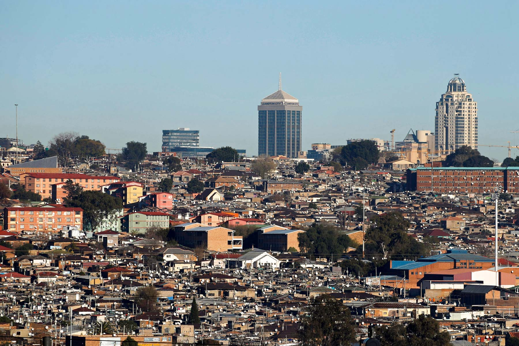 28 July 2016: Alexandra township in Johannesburg, where thousands of South Africans who lack the financial means to buy a house live in shacks. (Photograph by Reuters/ Siphiwe Sibeko)
