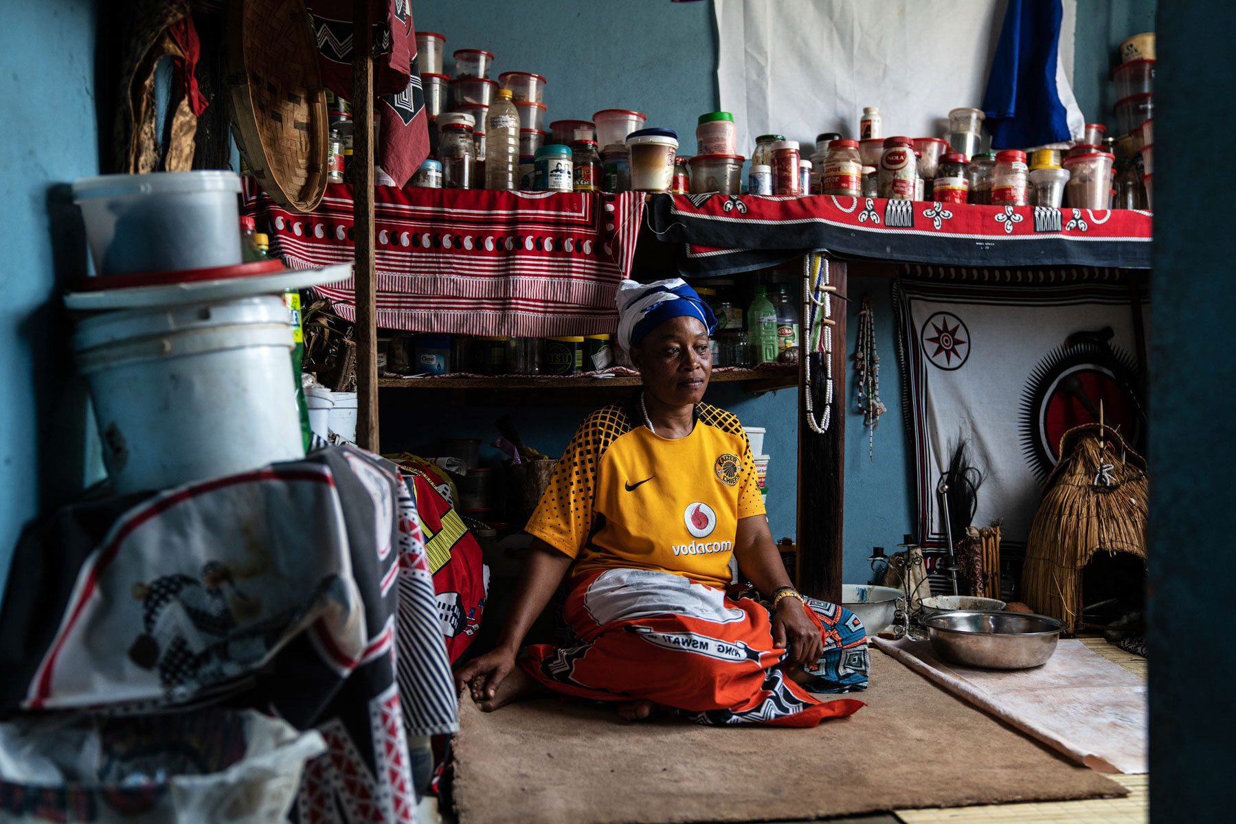 20 April 2020: Pinkie Constance Mhlambi, a traditional healer from Orange Farm, has had to turn patients away as she doesn't have a mask, gloves or sanitiser. She says traditional healers should be incorporated into the government's Covid-19 strategy.