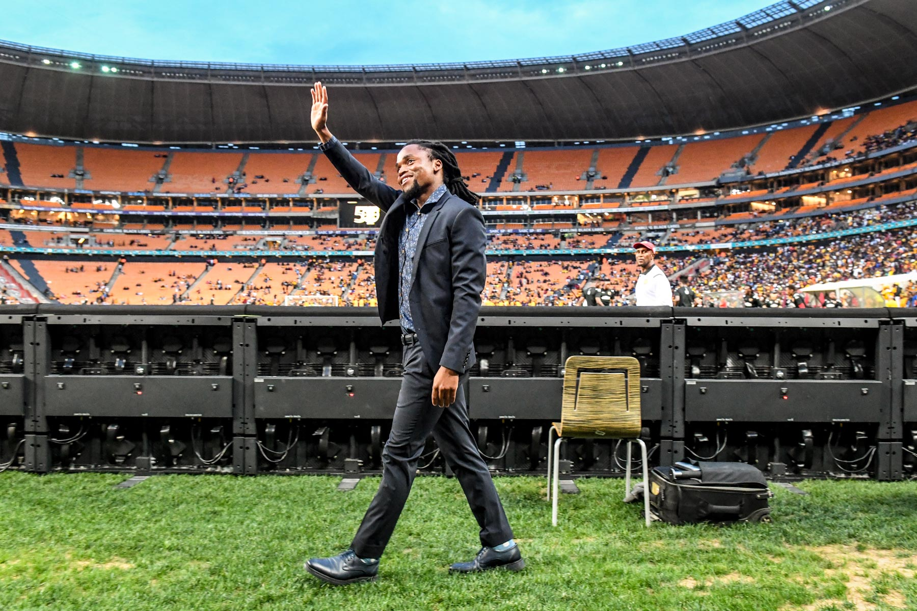 8 January 2020: Former Kaizer Chiefs player Siphiwe Tshabalala at the club's Absa Premiership match against Highlands Park at the FNB Stadium in Johannesburg. (Photograph by Sydney Seshibedi/ Gallo Images)