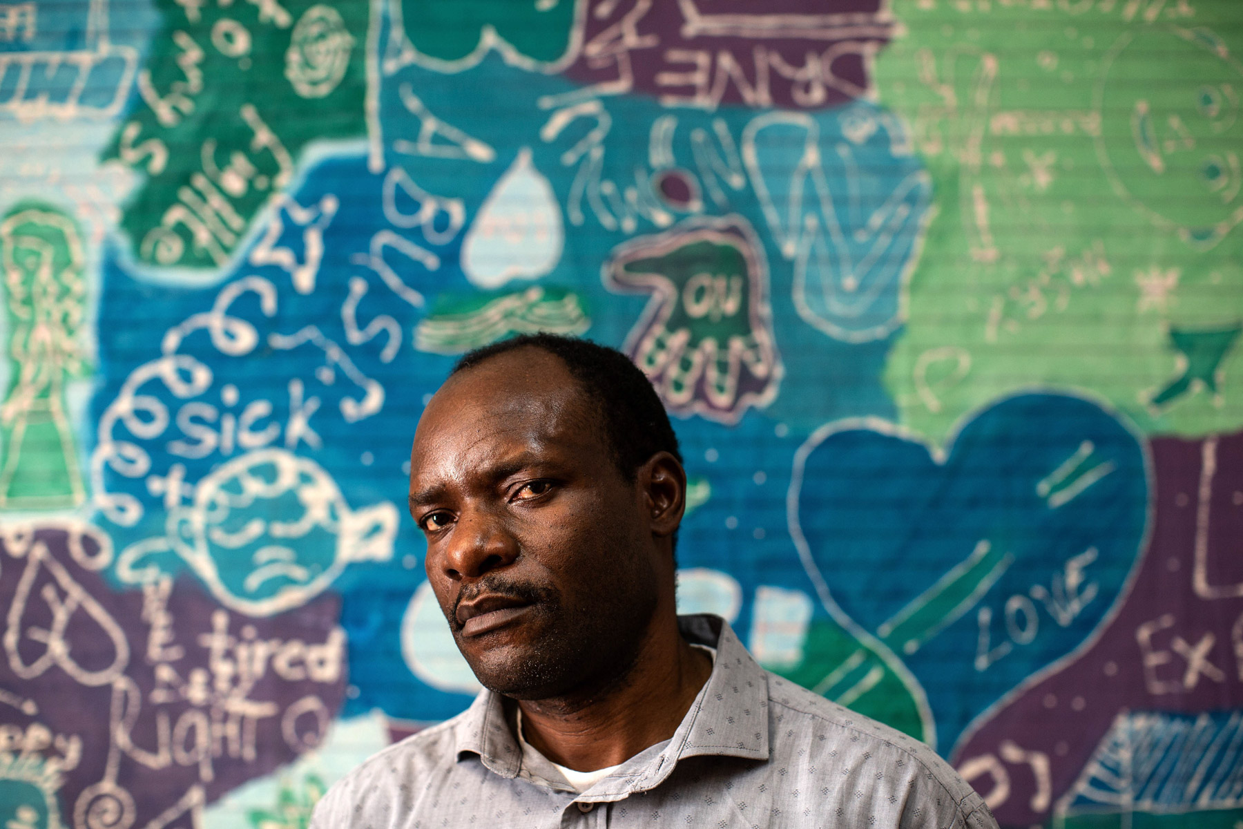 22 May 2020: Congolese migrant Paulin Chikomba works as a counsellor at the Sophiatown Community Psychosocial Services in Bertrams.