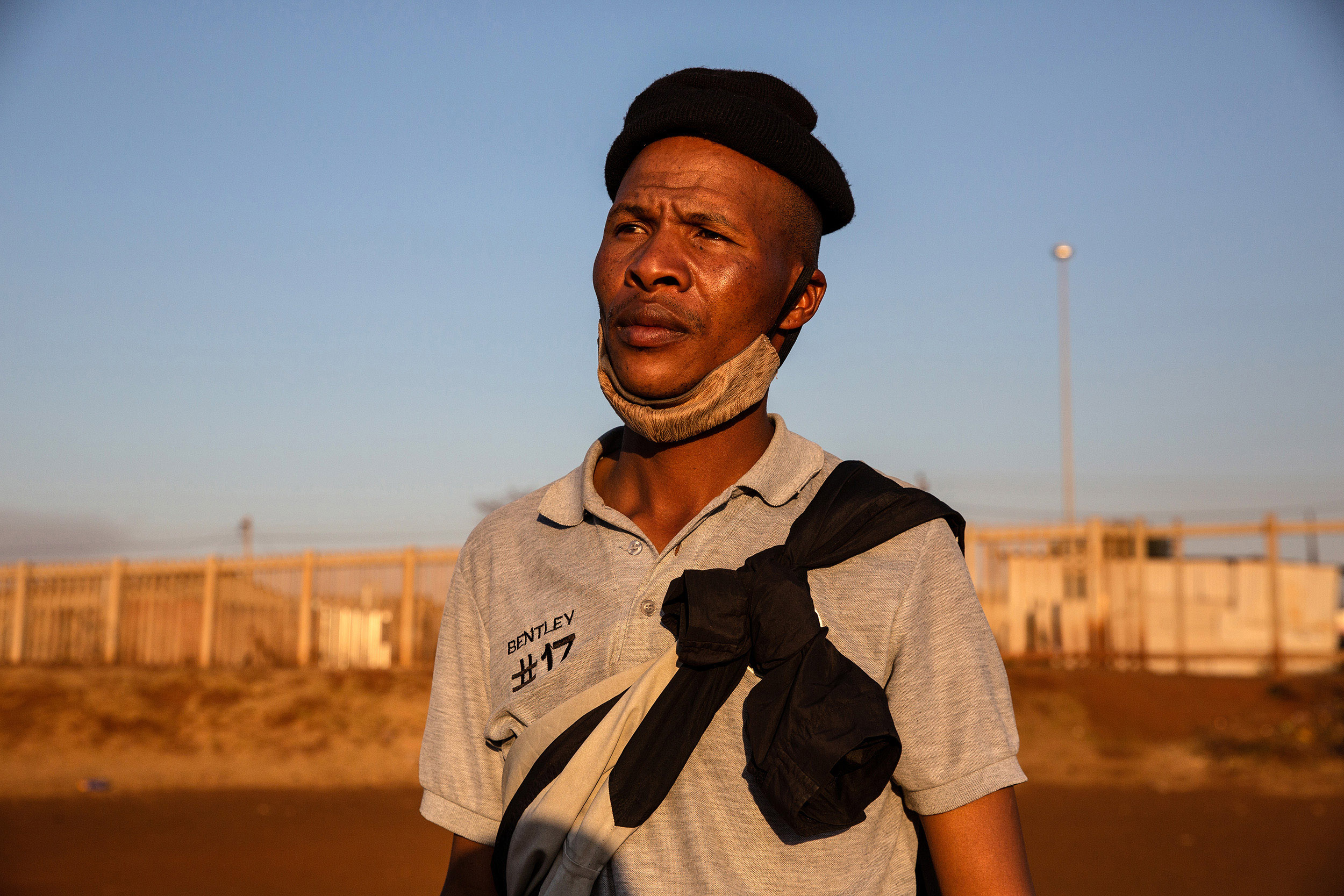7 July 2020: Self-described community activist Luan Bentley participated in the march. He said everyone at the meeting was frustrated with the government allowing migrants to work and own property in South Africa.