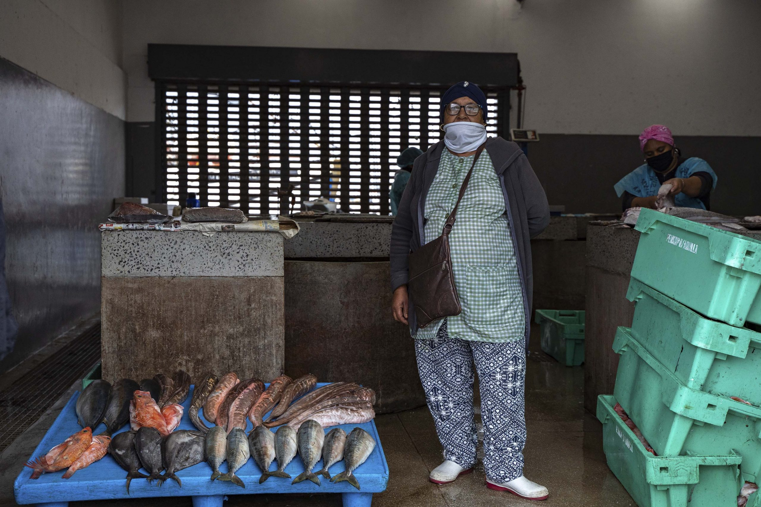 27 June 2020: Nadeema Jacobs, Ginola Phillips' grandmother, has lived in Hangberg for 59 years and sells fish at Hout Bay Harbour. She employs a number of people and Phillips works for her on weekends. The Covid-19 lockdown has reduced her already meagre earnings.
