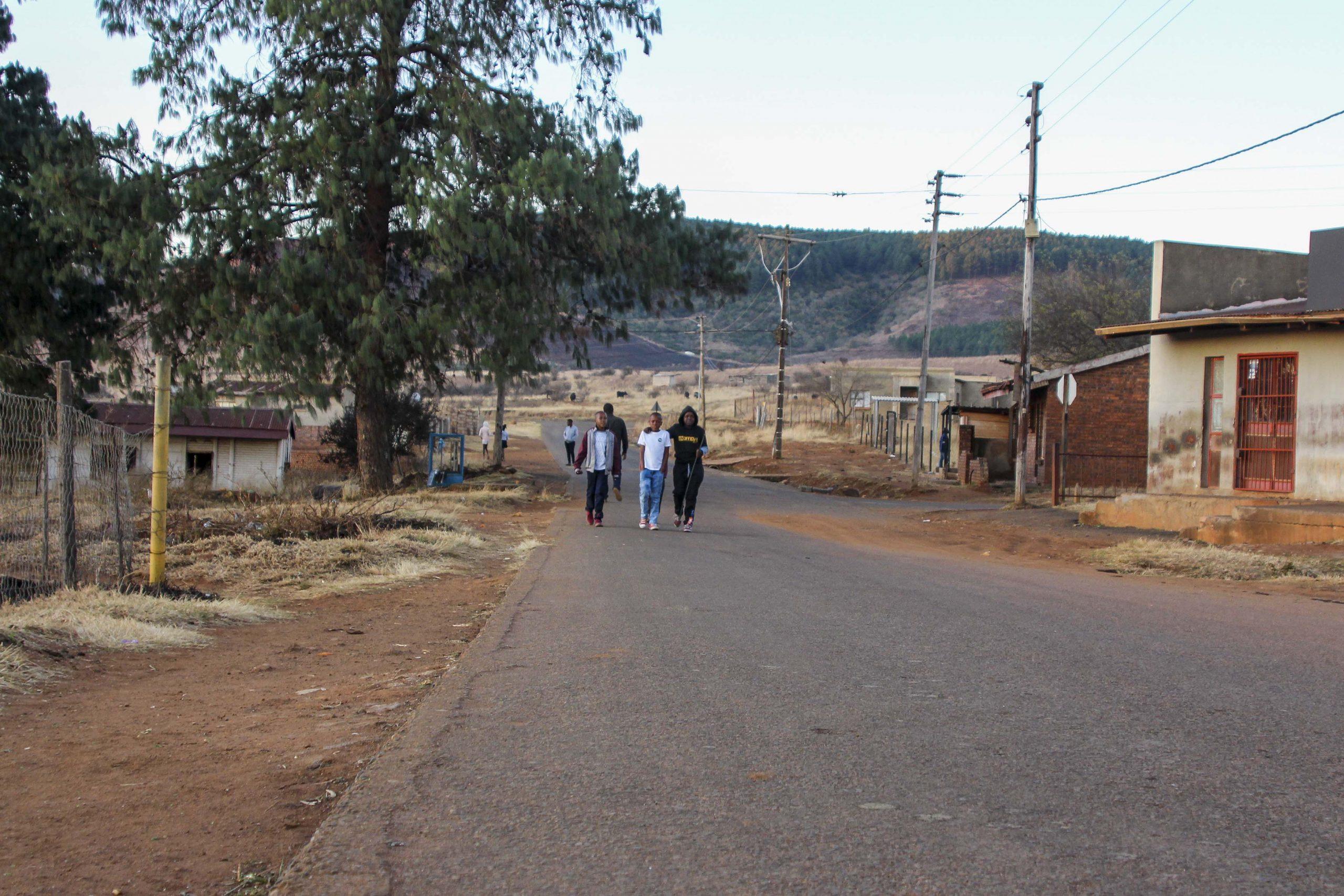 28 June 2020: The road in KwaThandeka where Kwanele Khumalo was injured after police randomly shot at him and other protestors.