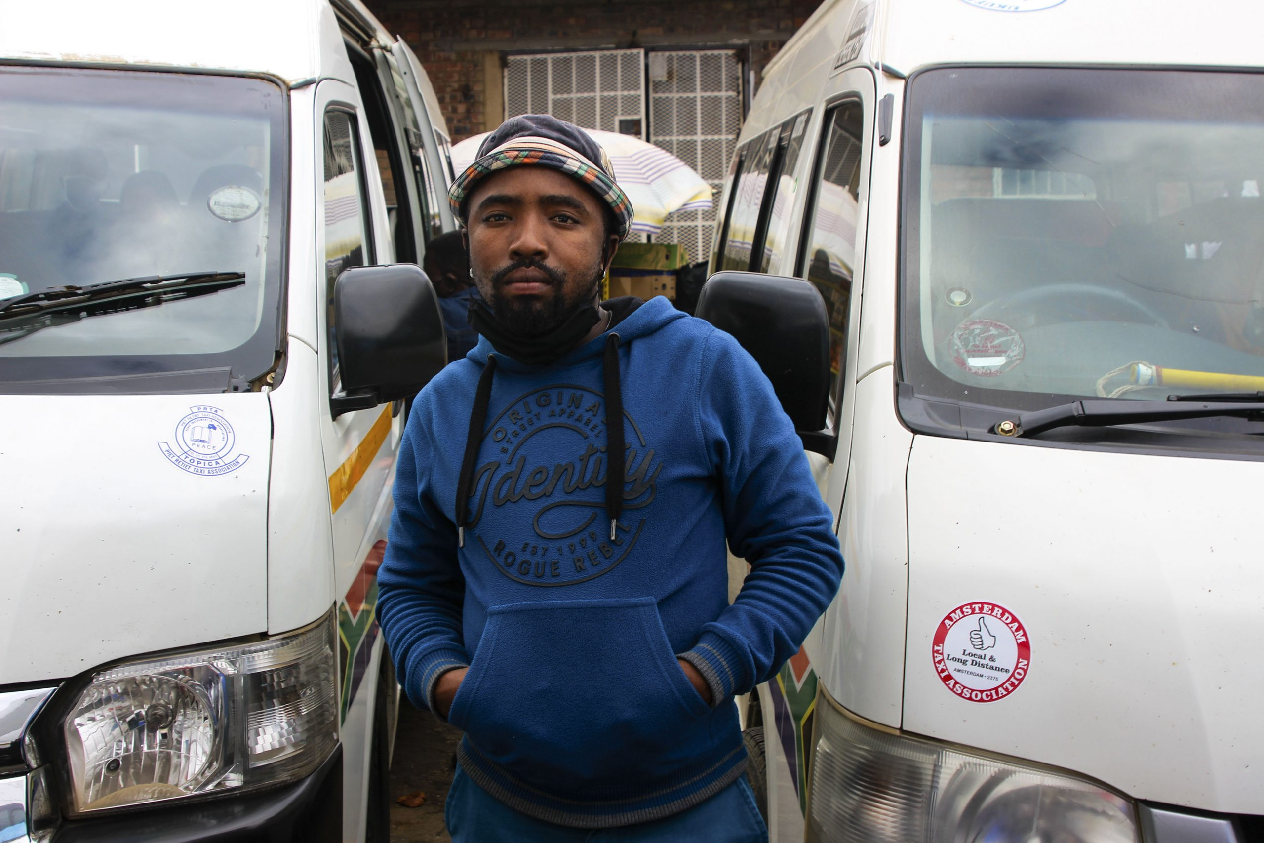 8 June 2020: Jacobs, a taxi driver in Mkhondo, Mpumalanga, says the police and soldiers once threatened to impound his vehicle for carrying 10 passengers. (Photograph by Magnificent Mndebele)