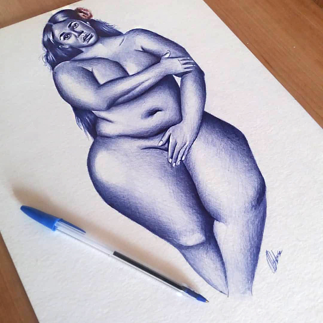 5 March 2020: A figure drawing titled Thickness that explores the full spectrum of African women's beauty. (Photograph supplied)